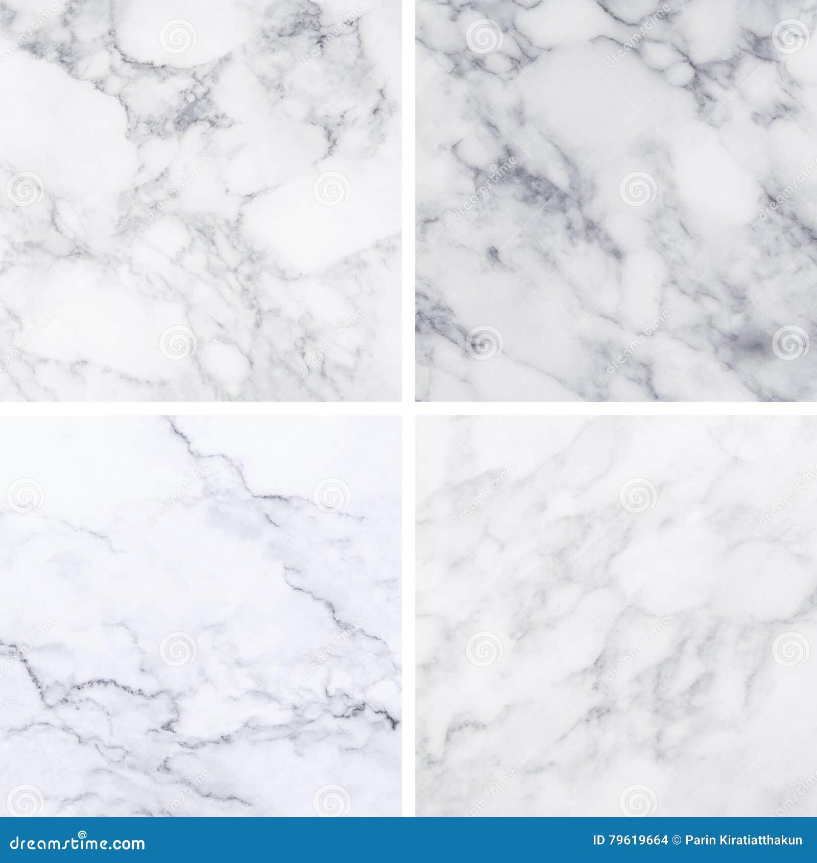 Coleção da textura e do fundo de mármore brancos