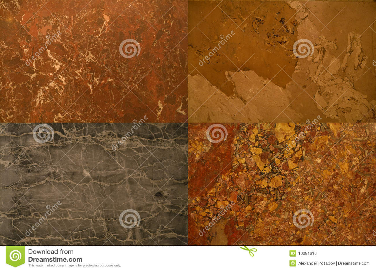 Coleção das texturas das pedras