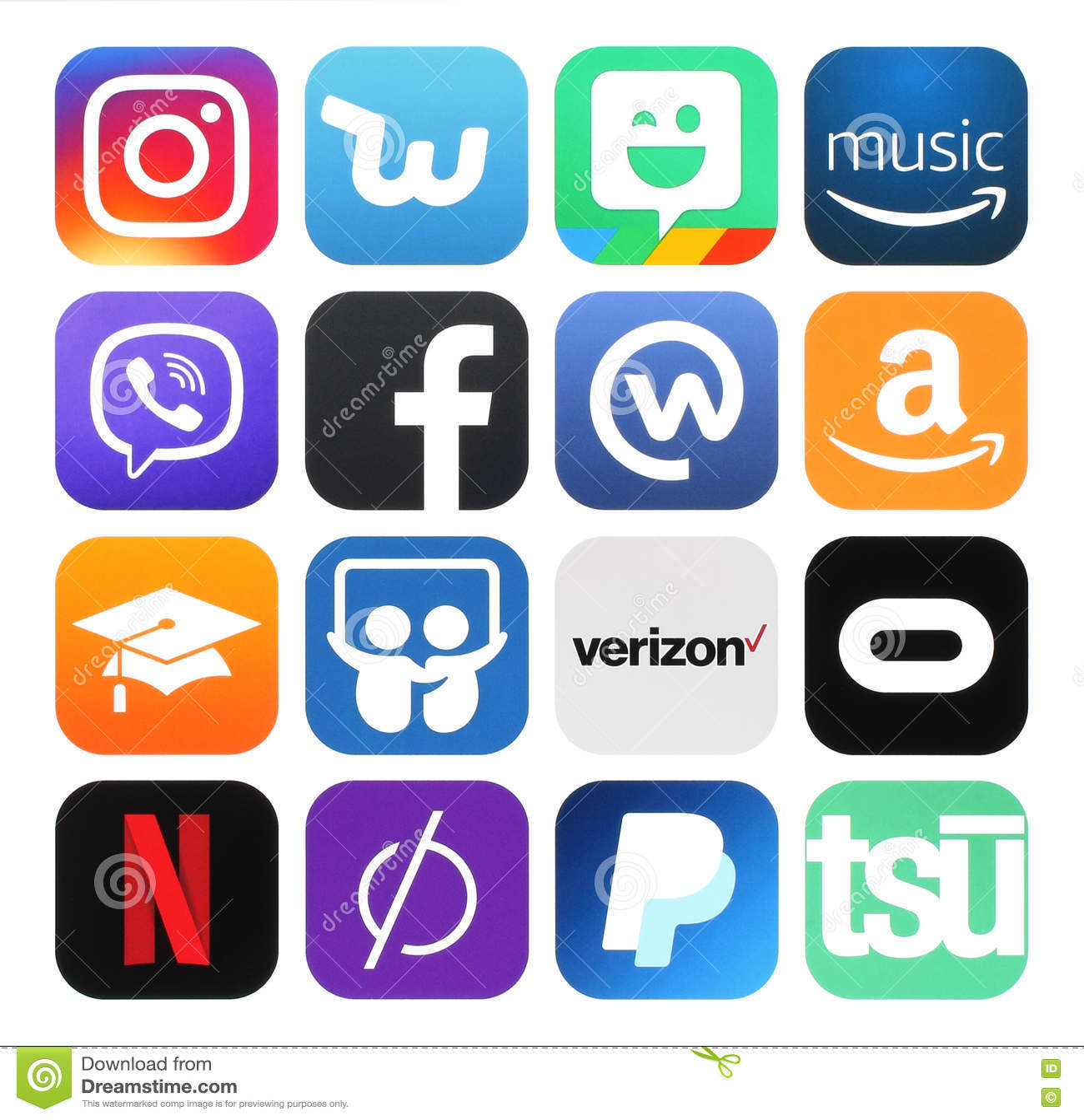 Coleção de meios sociais populares, negócio, logotipos da foto