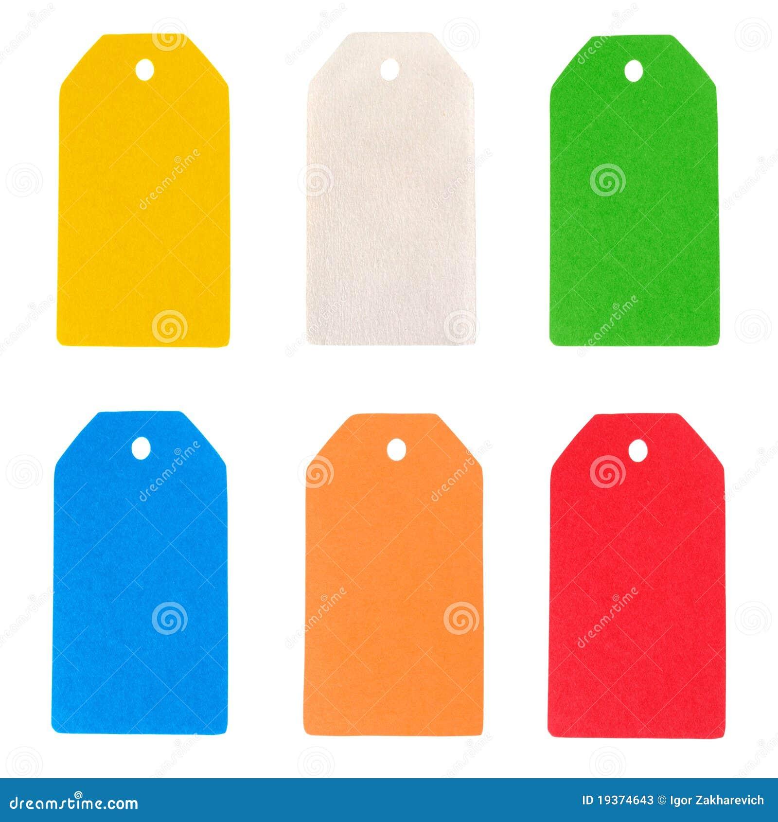 Coleção de papel da etiqueta