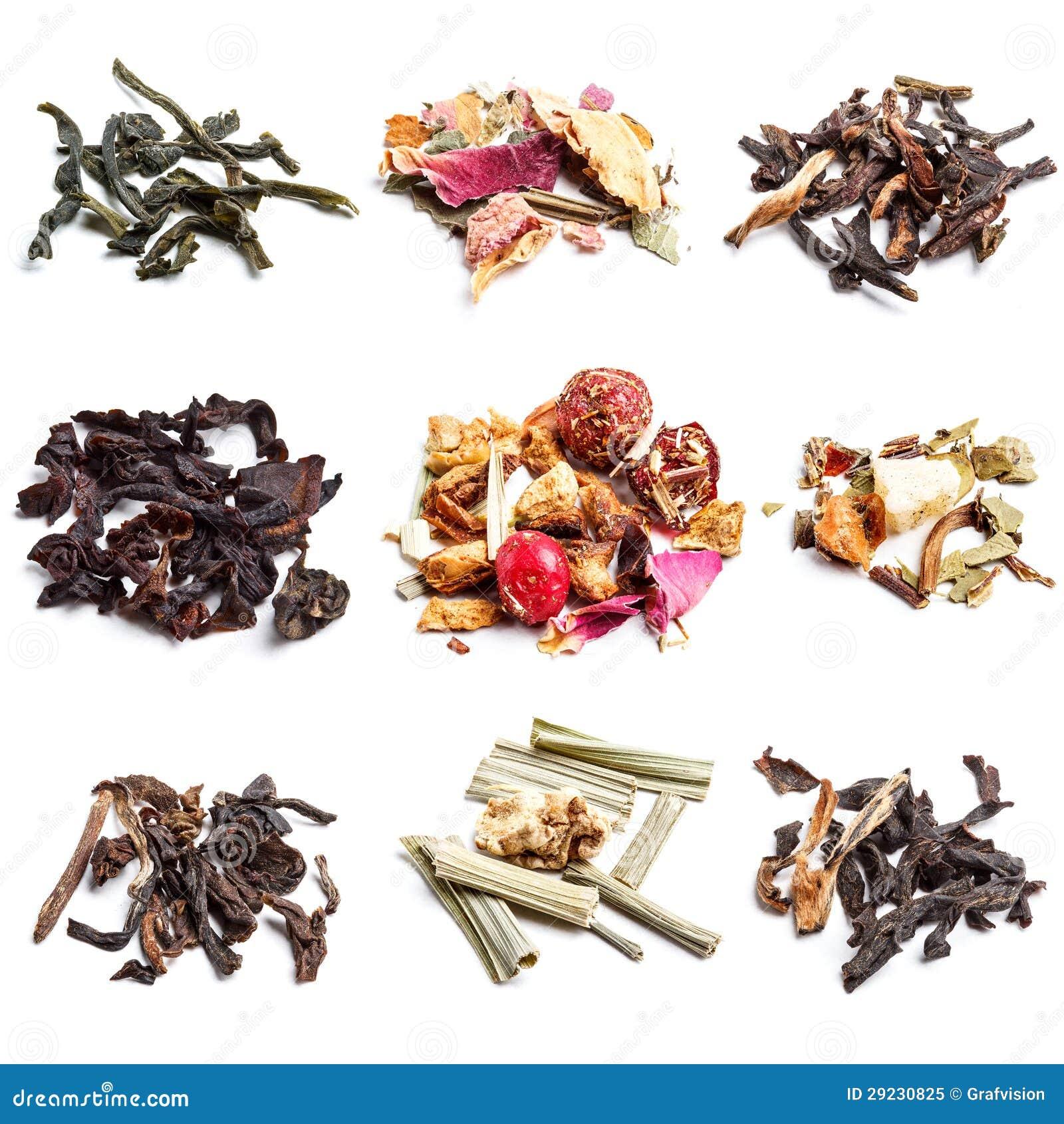 Download Coleção do chá imagem de stock. Imagem de variedade, herbal - 29230825