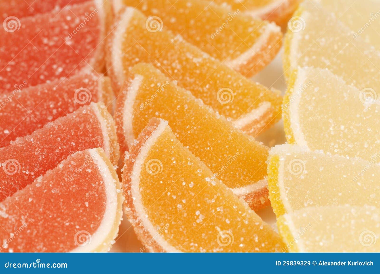 Coleção do doce de fruta do citrino