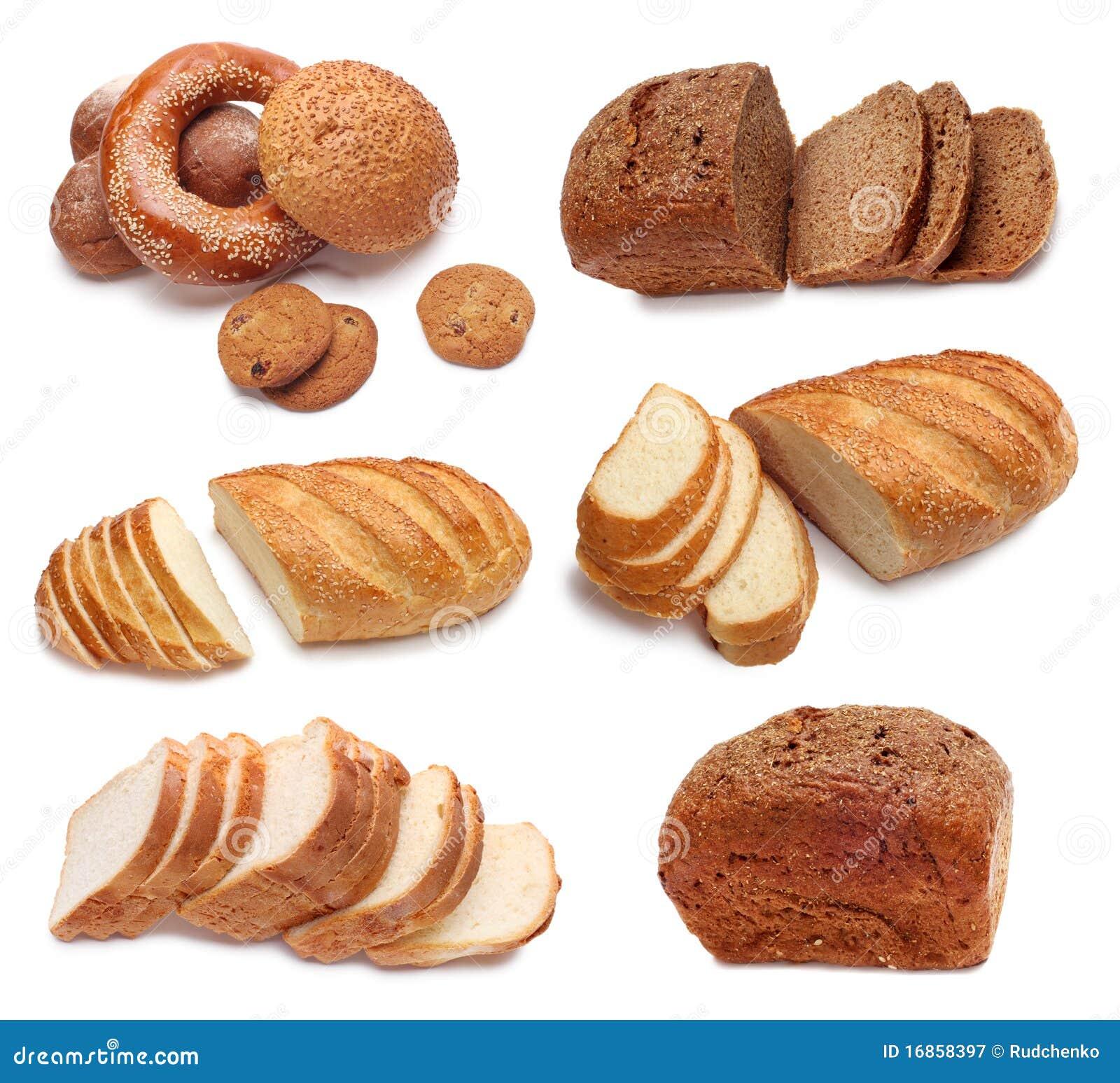 Coleção do pão cozido