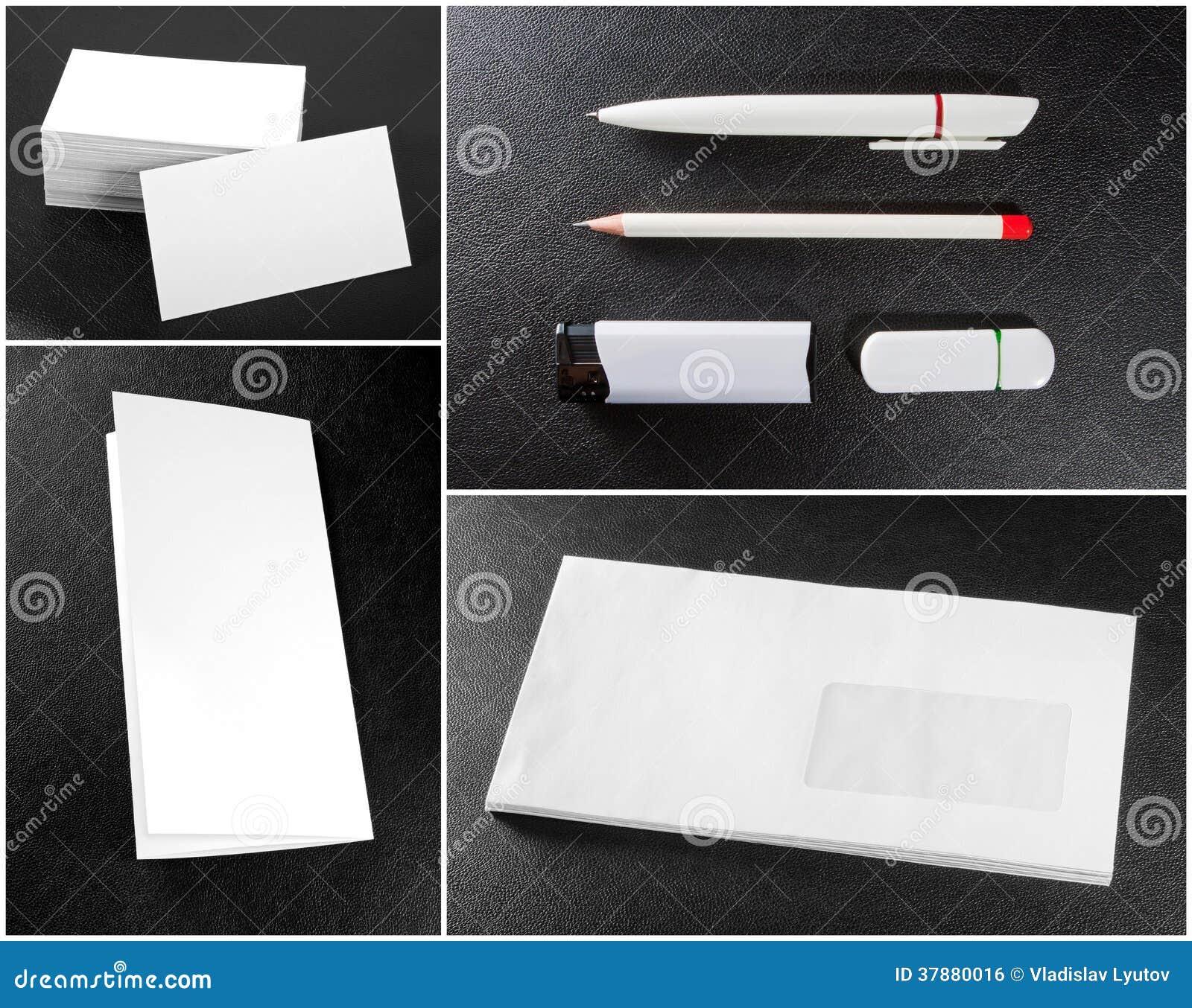 Coleção dos artigos de papelaria