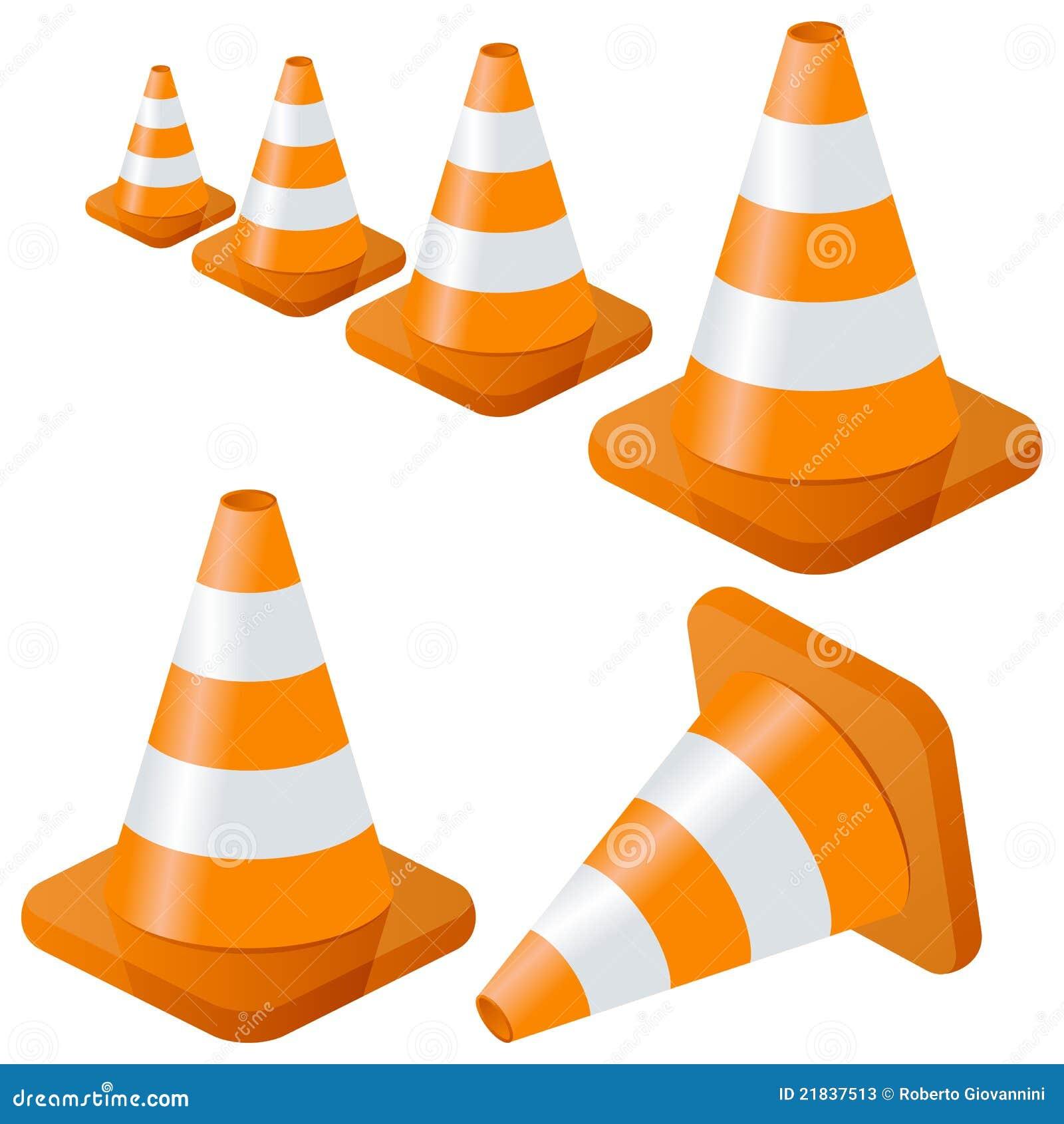 Coleção dos cones do tráfego