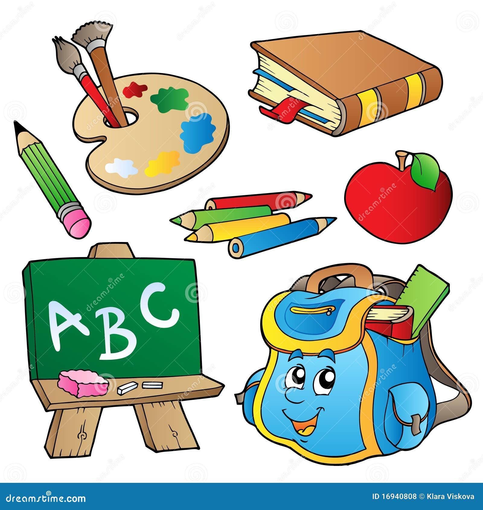 Colecao Dos Desenhos Animados Da Escola Ilustracao Do Vetor