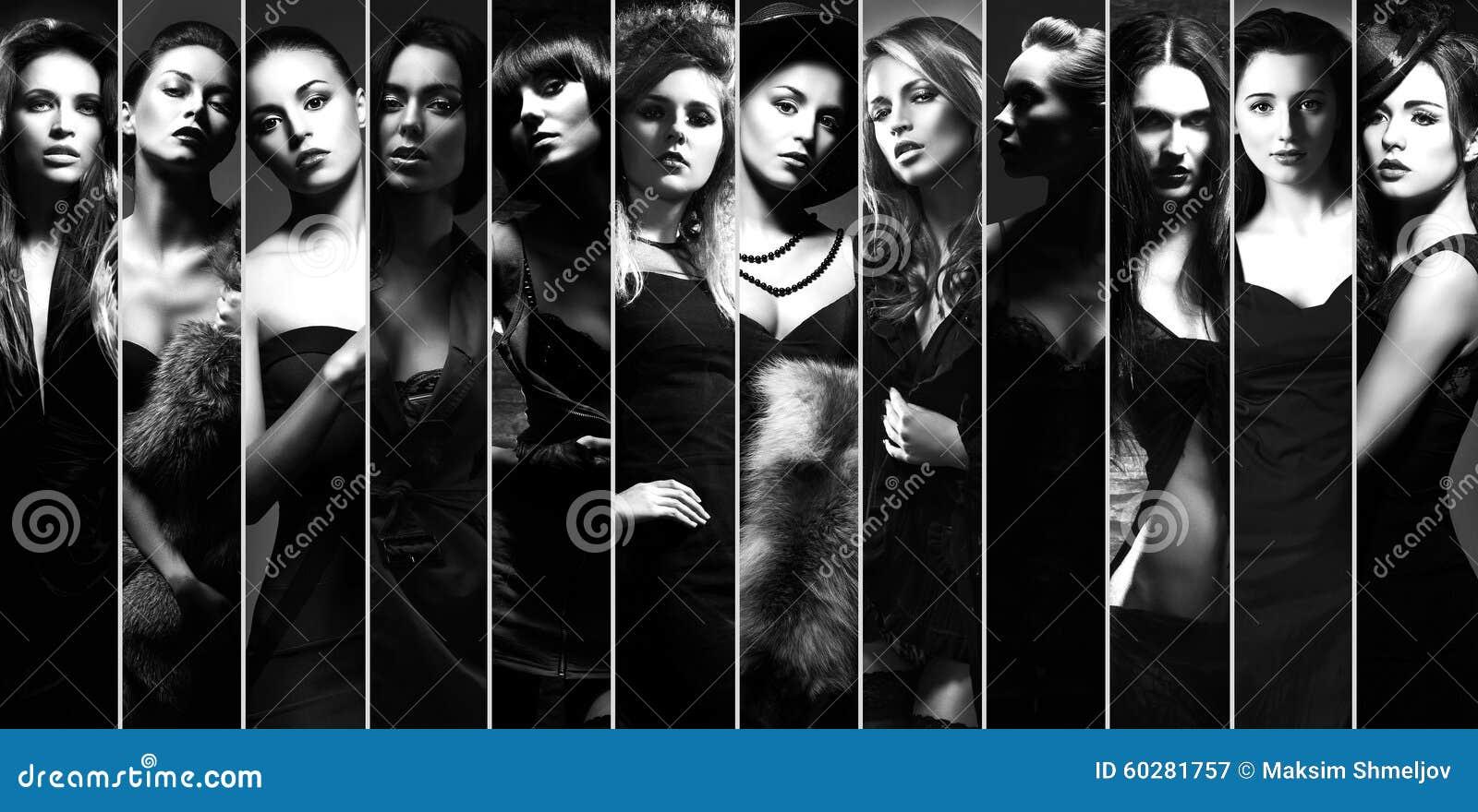 Coleção elegante de mulheres diferentes