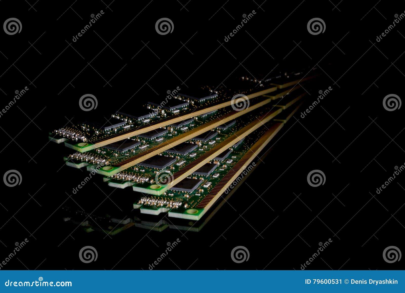 Coleção eletrônica - memória de acesso aleatório do computador & x28; RAM& x29; modu