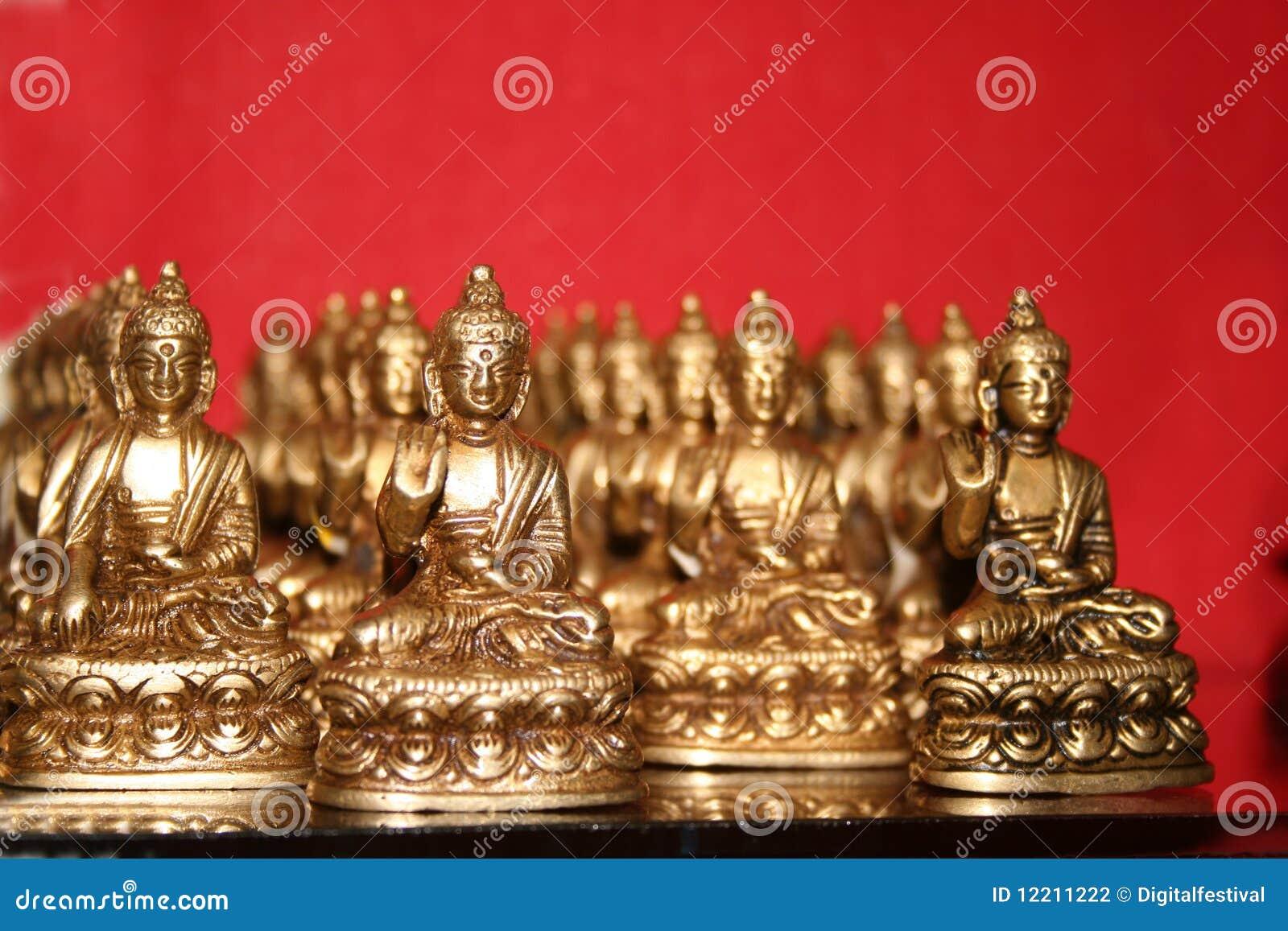 Coleção tibetana de Buddha para a oração