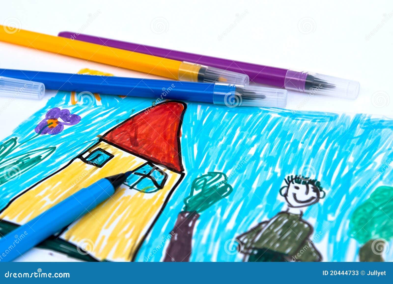 cole crayons lecteurs de feutre de couleur photos stock. Black Bedroom Furniture Sets. Home Design Ideas
