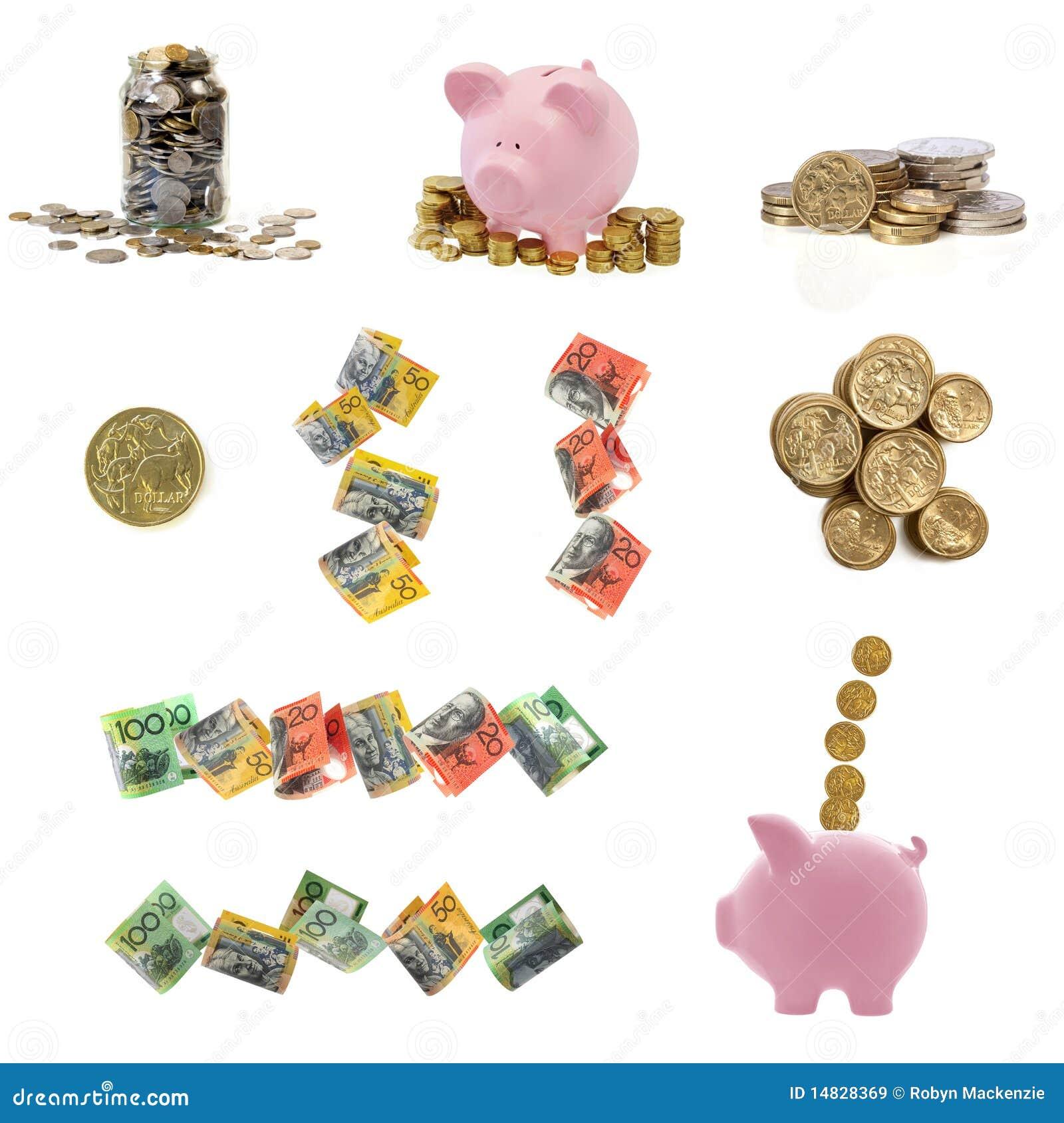 Colección australiana del dinero