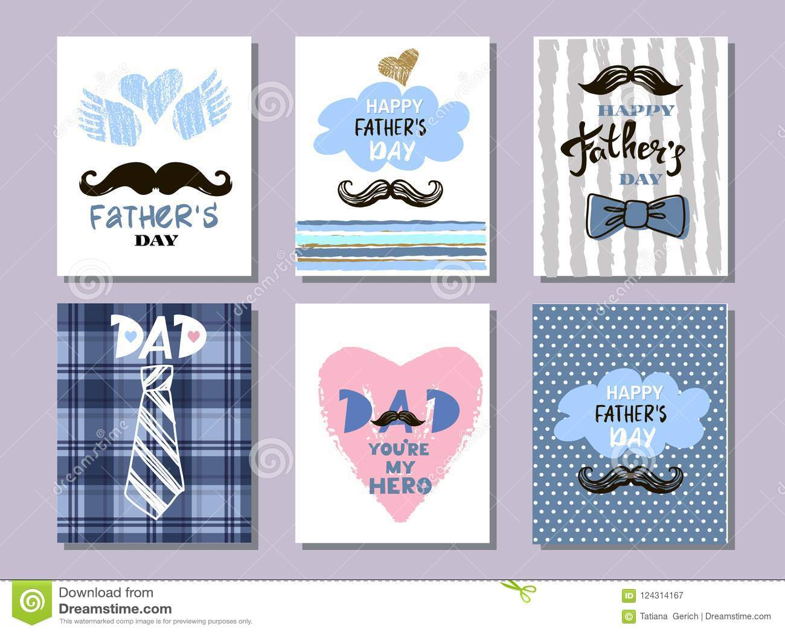 Colección cards10 del día del ` s del padre