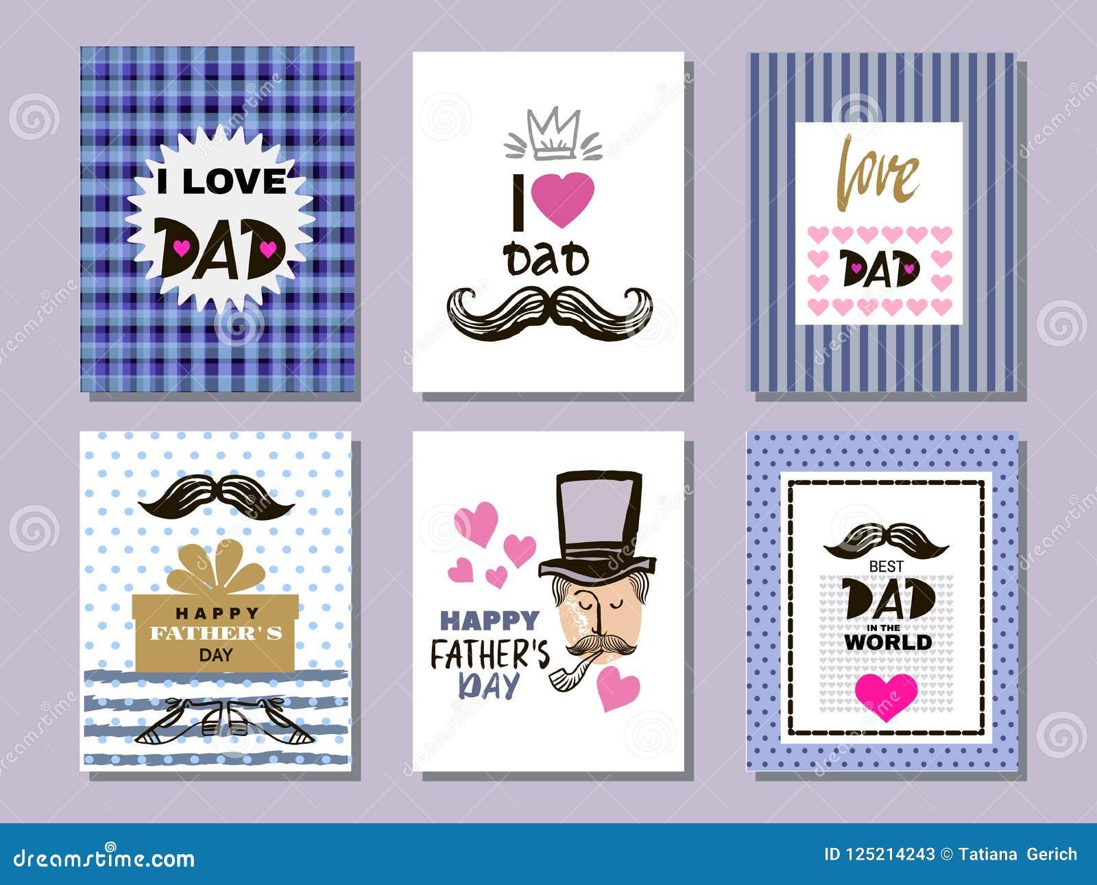 Colección cards7 del día del ` s del padre