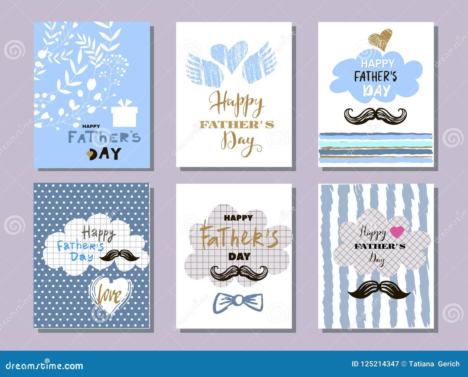 Colección cards8 del día del ` s del padre