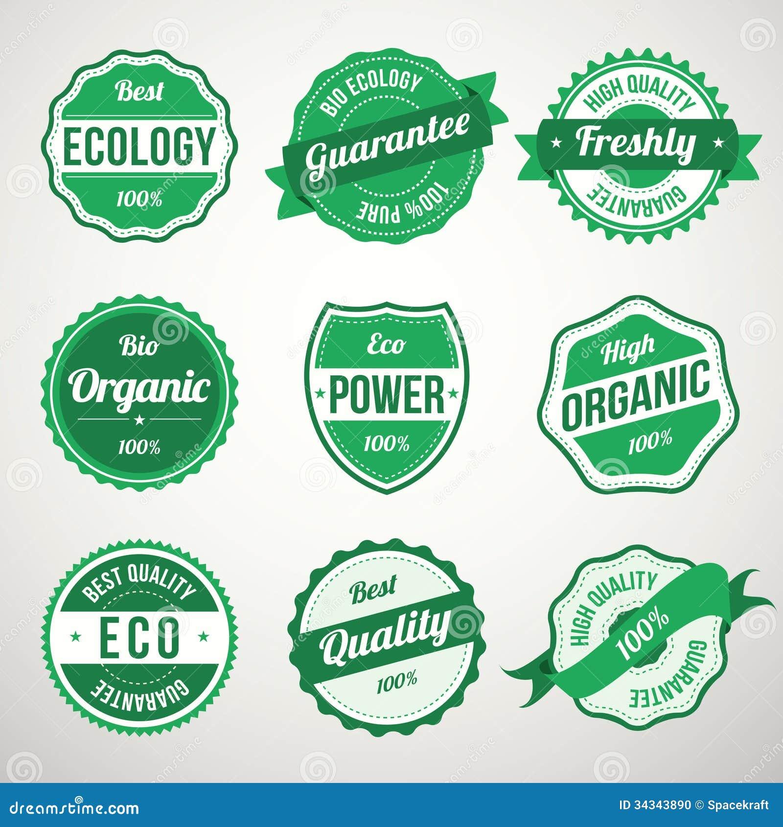 Colecci n de bio etiquetas del dise o de la ecolog a del for Diseno de etiquetas