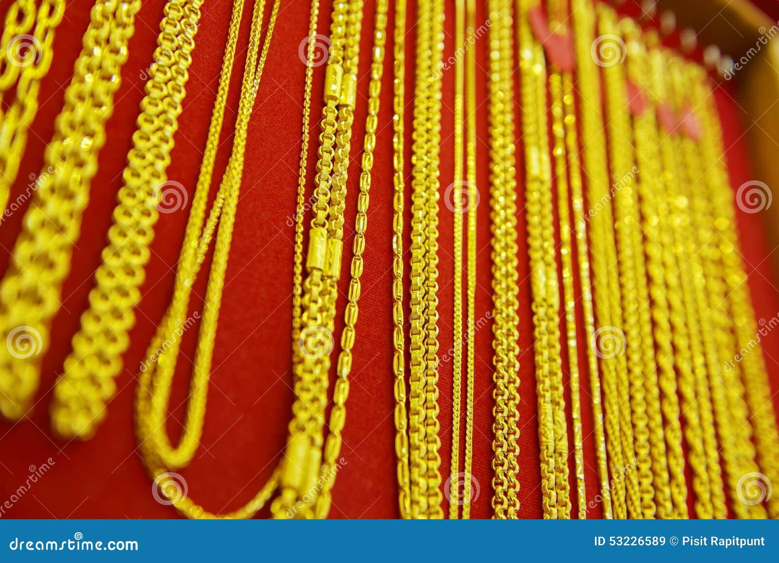 Colección de collar de oro
