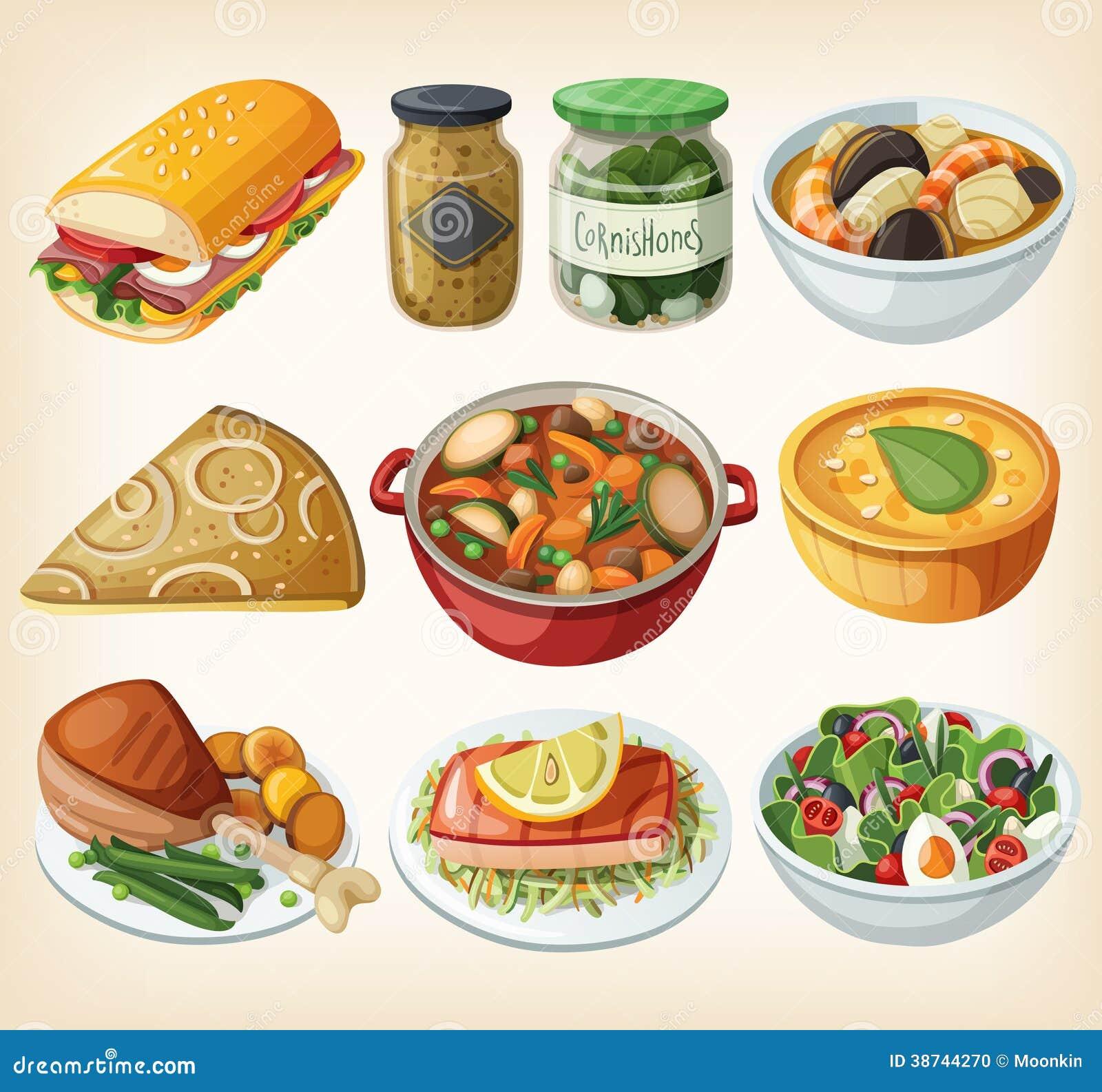 Colecci n de comidas francesas tradicionales de la cena for Cenas francesas