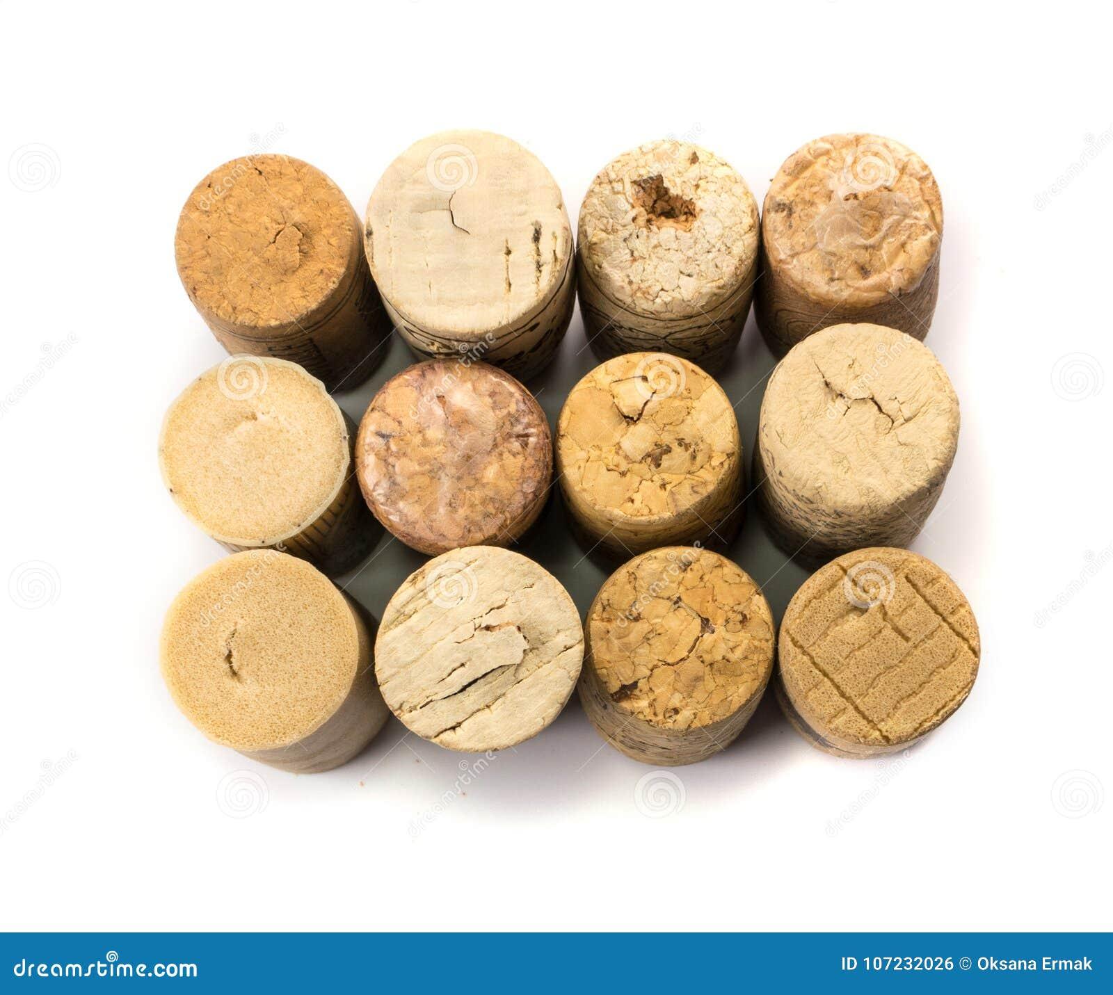 Colección de corchos usados del vino