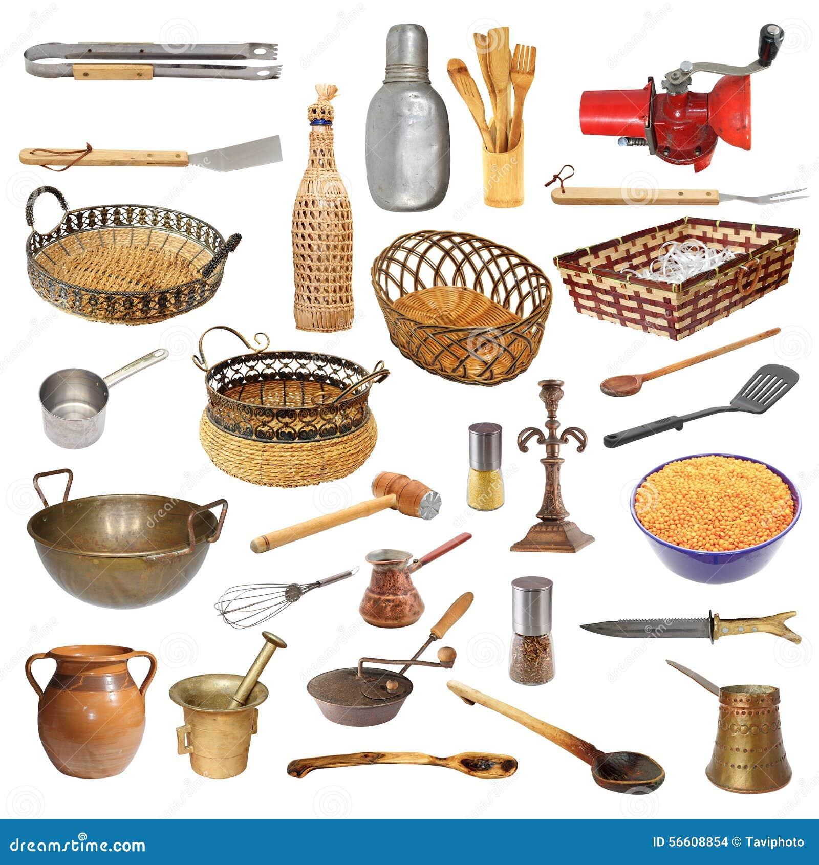 Colecci n de diversos utensilios y objetos de la cocina for Objetos de cocina