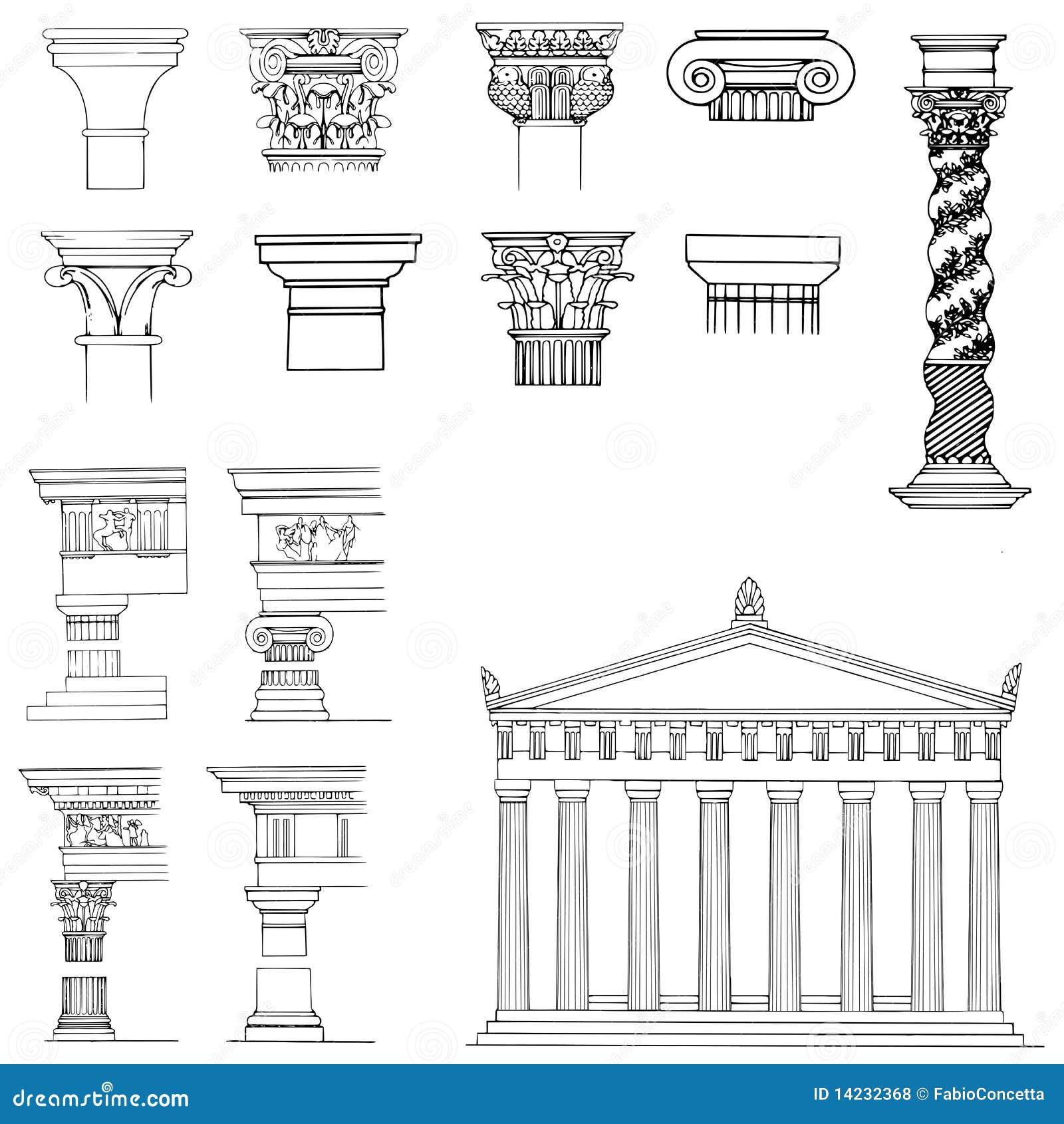 Colecci n de elementos arquitect nicos stock de for Libros de planos arquitectonicos