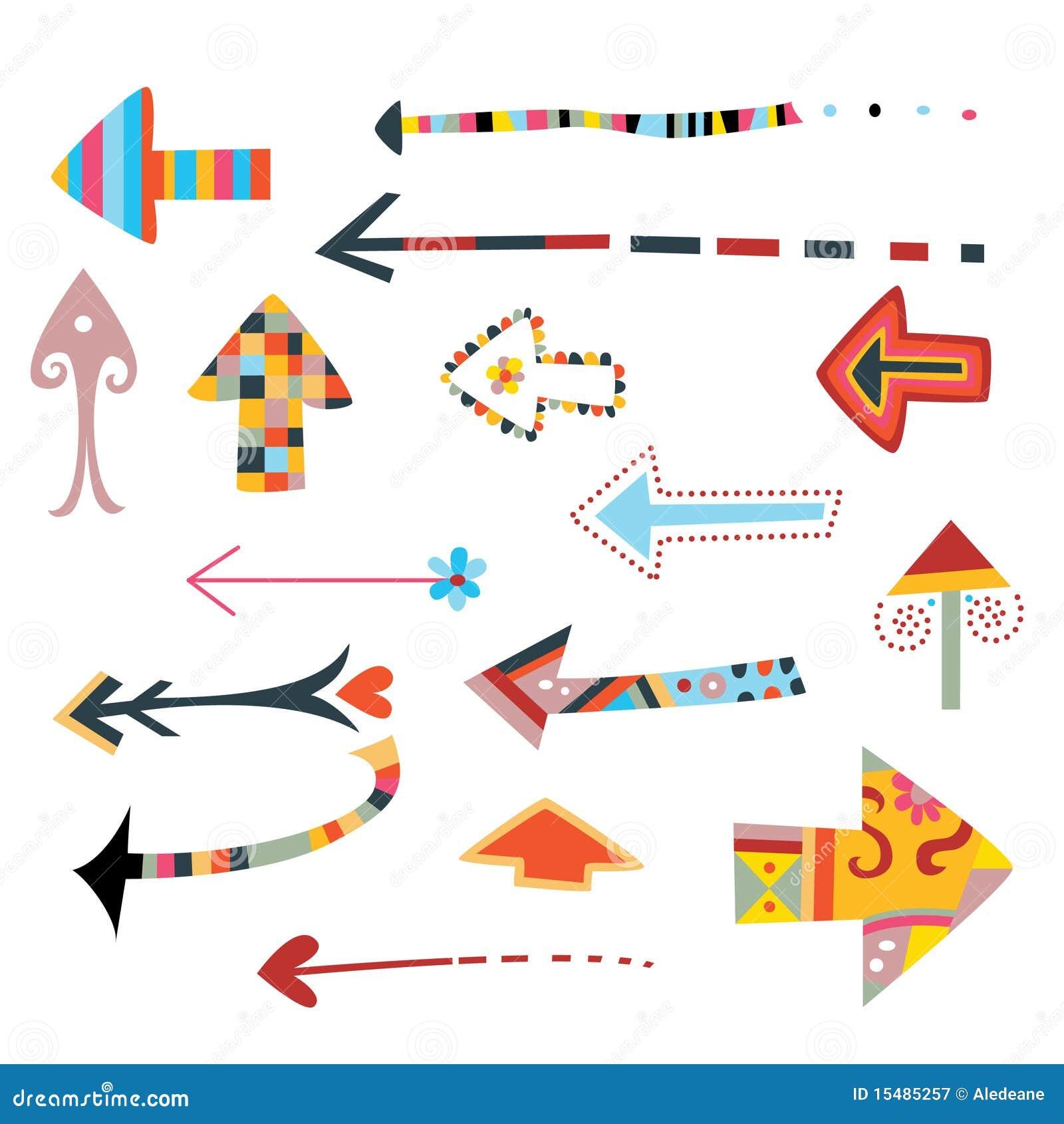 Colección de flechas decorativas