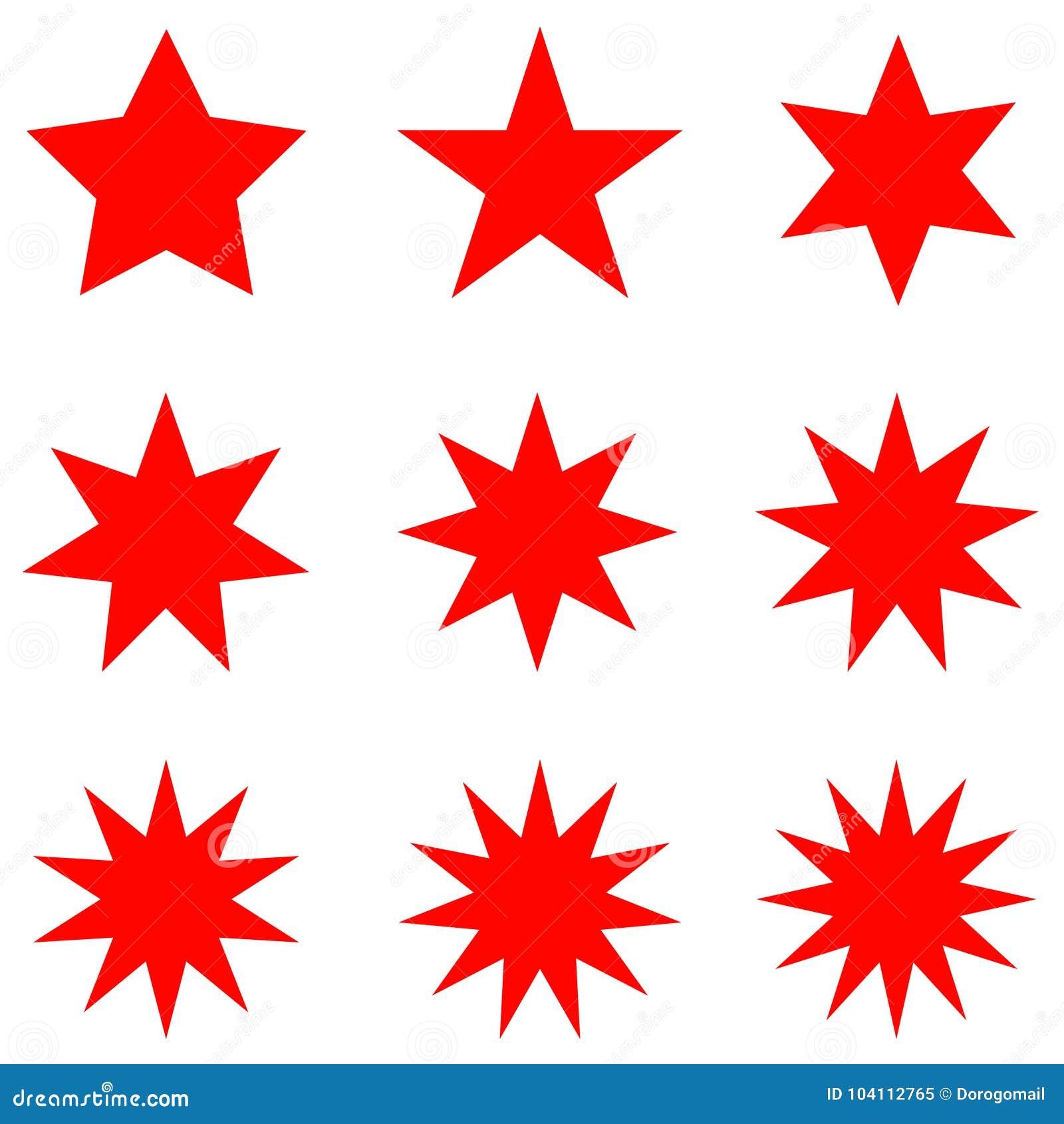 5c17371c703 Colección de formas retras de moda de las estrellas sistema de elementos  del diseño del resplandor
