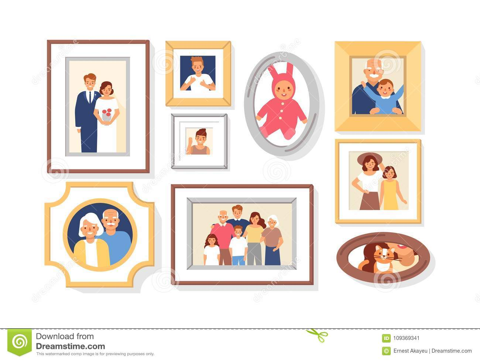 Colección De Fotos De Miembros De La Familia O Parientes Y Eventos ...