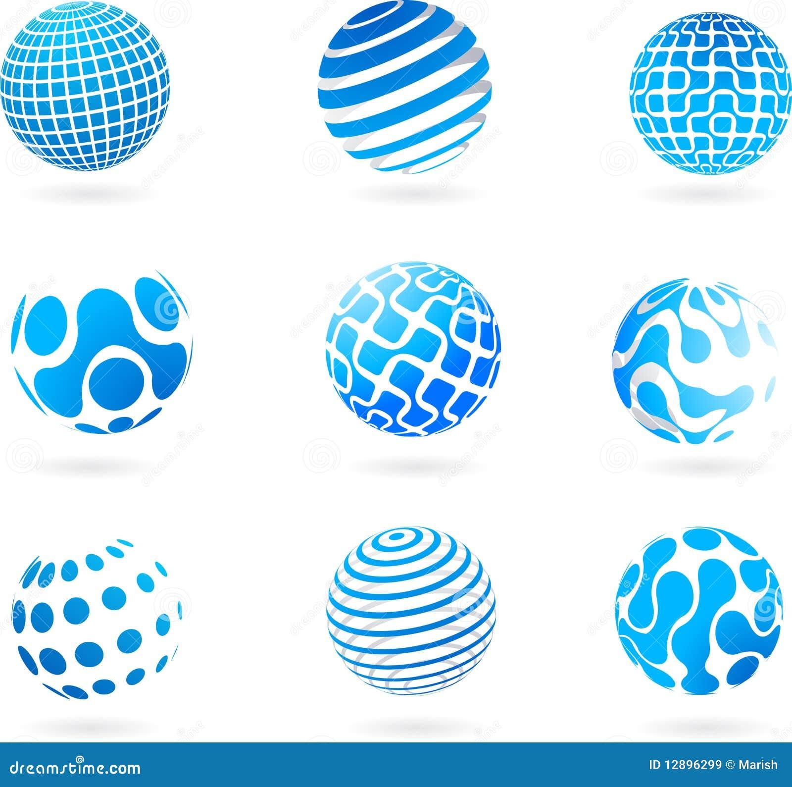 Colección de iconos del globo - tema de la tecnología