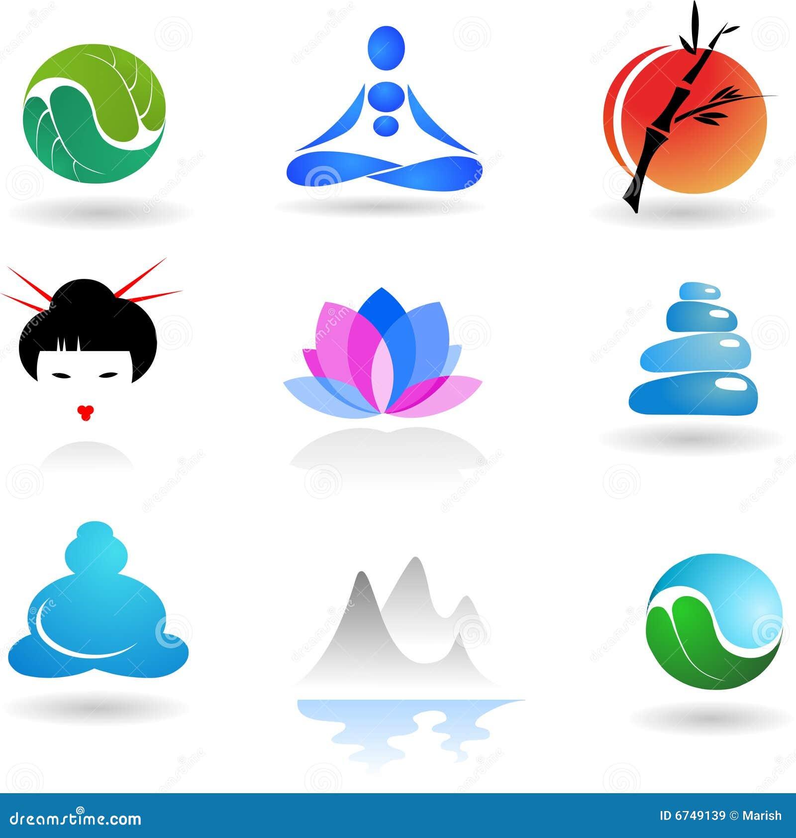 Colección de insignia del zen