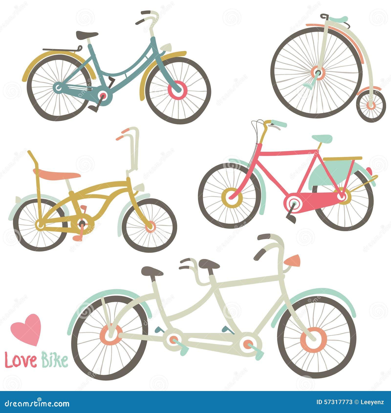Colección de la bici del vintage