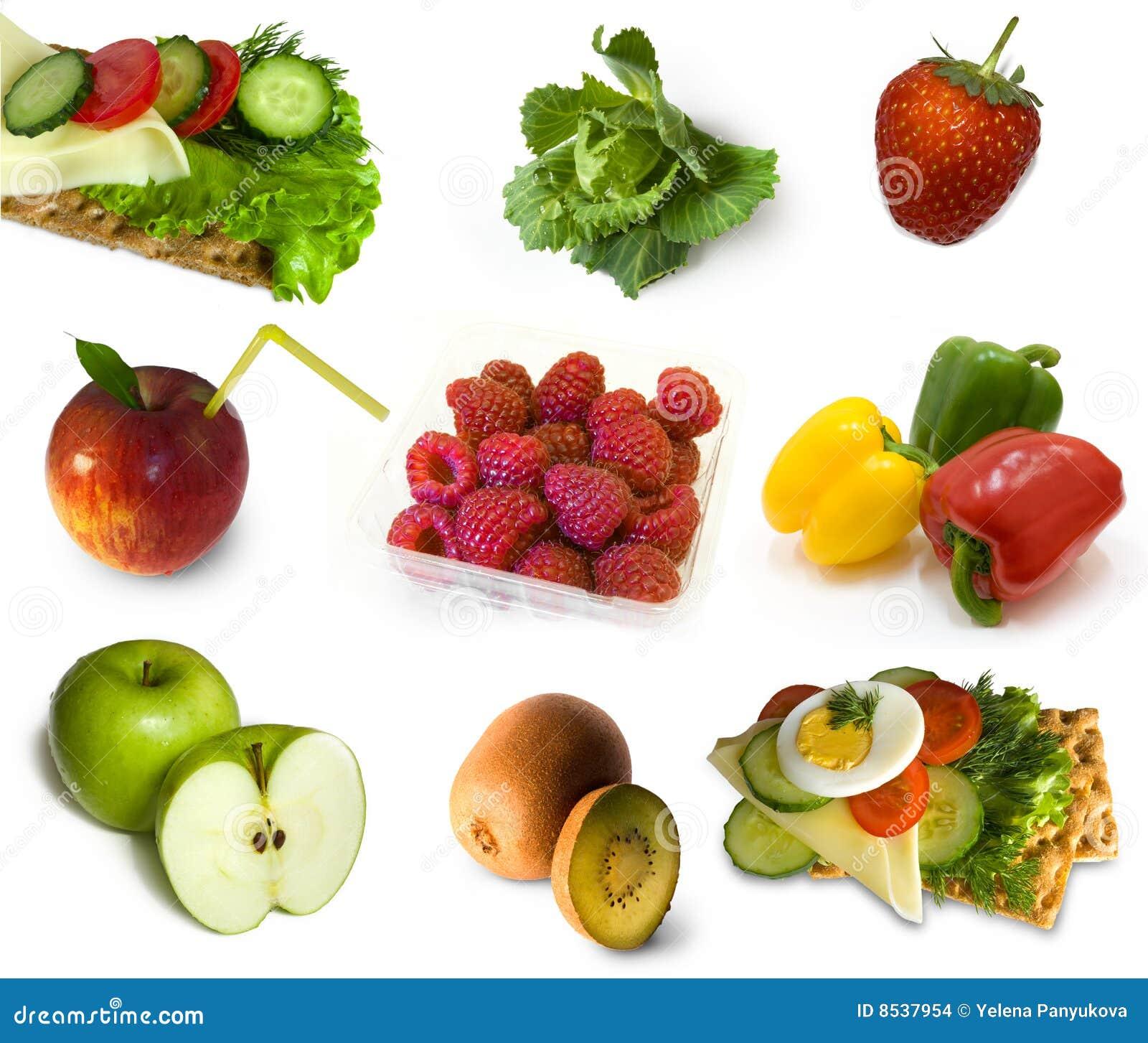 Colecci n de la comida sana foto de archivo imagen de - Fotos de comodas ...