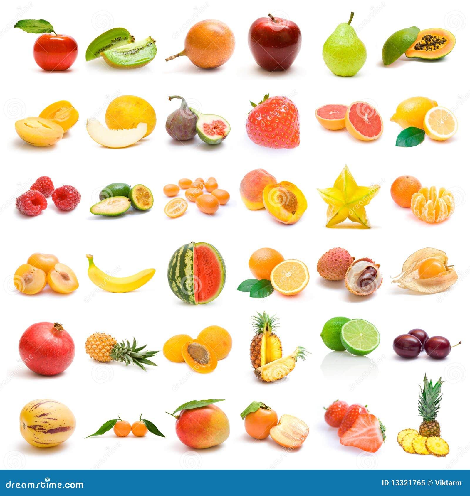 Colección de la fruta