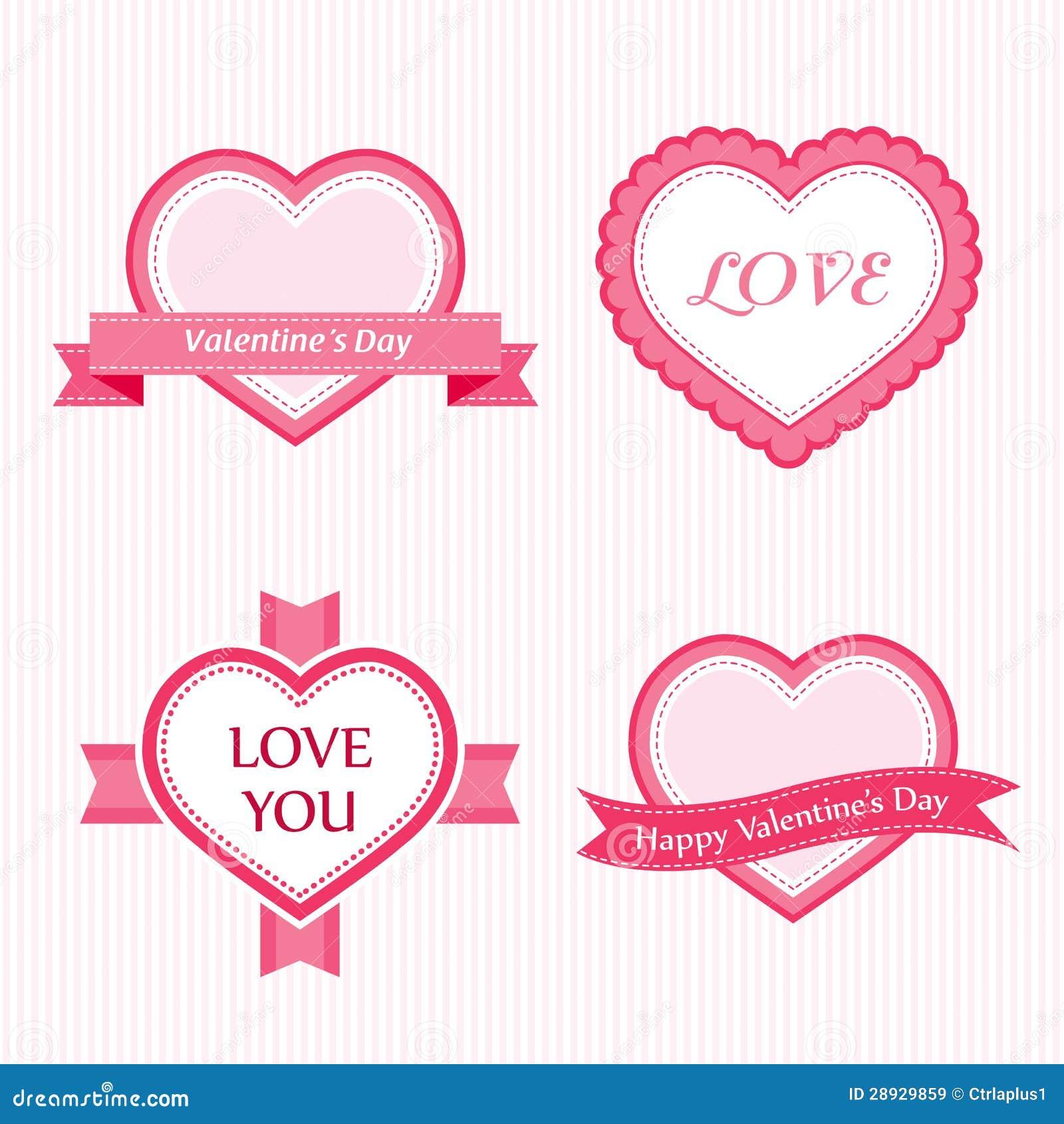Colección de la tarjeta del día de San Valentín de escrituras de la etiqueta
