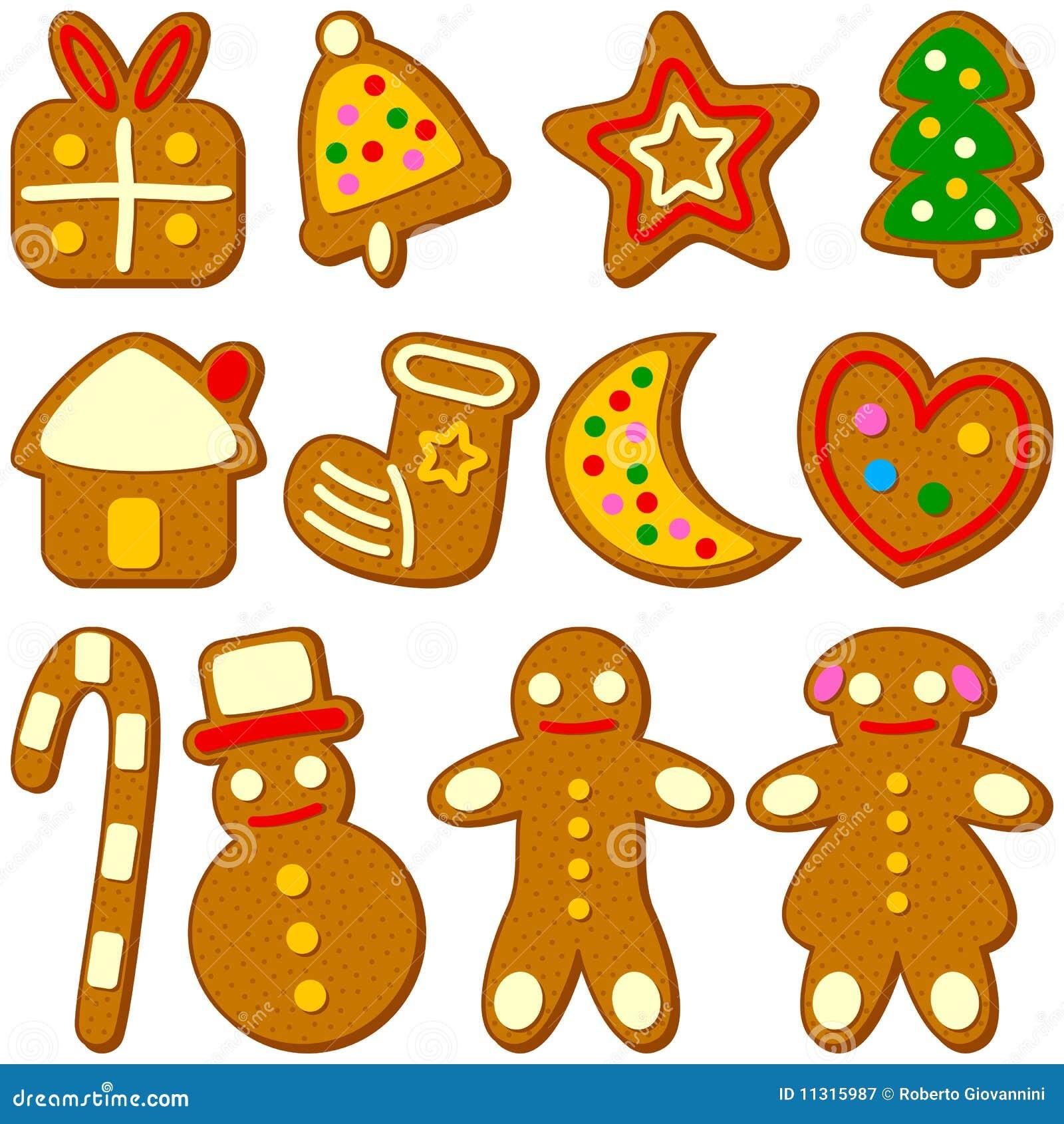 Colección de las galletas de la Navidad