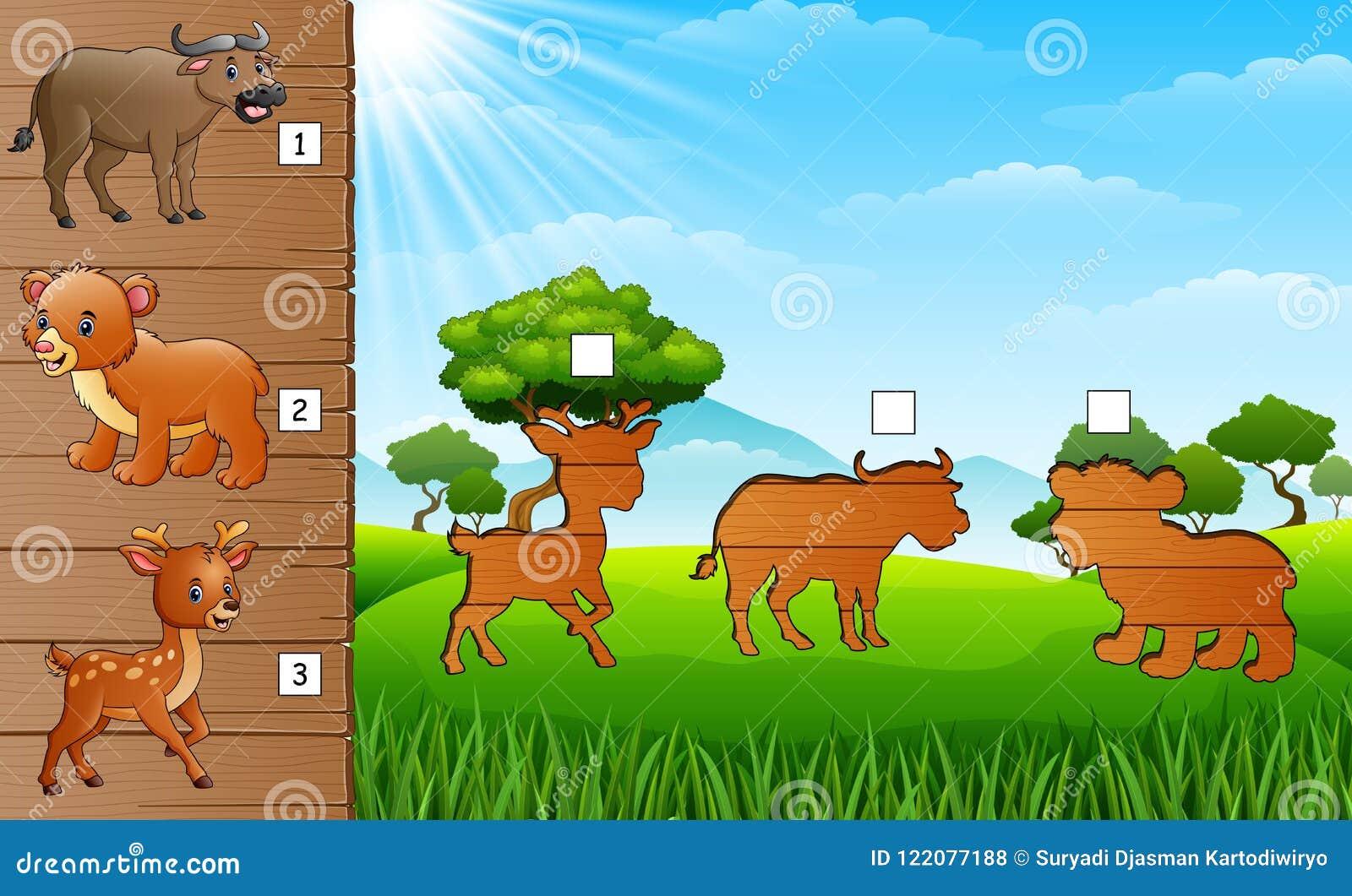 Colección De Los Animales Con El Búfalo, El Oso Y Los Pequeños ...