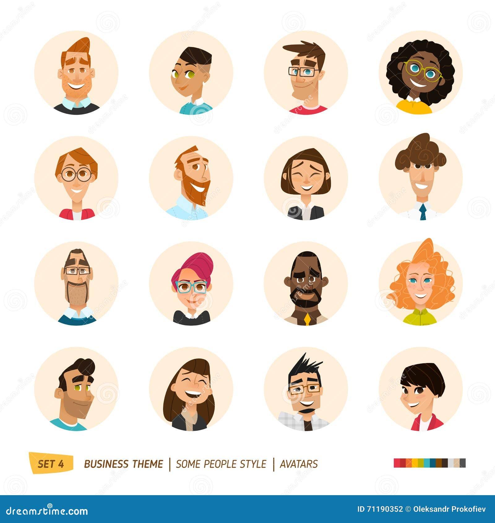 Colección de los avatares de la gente