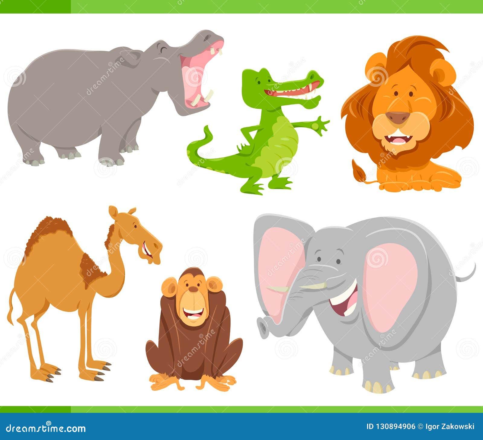 Colección De Los Personajes De Dibujos Animados De Los Animales ...