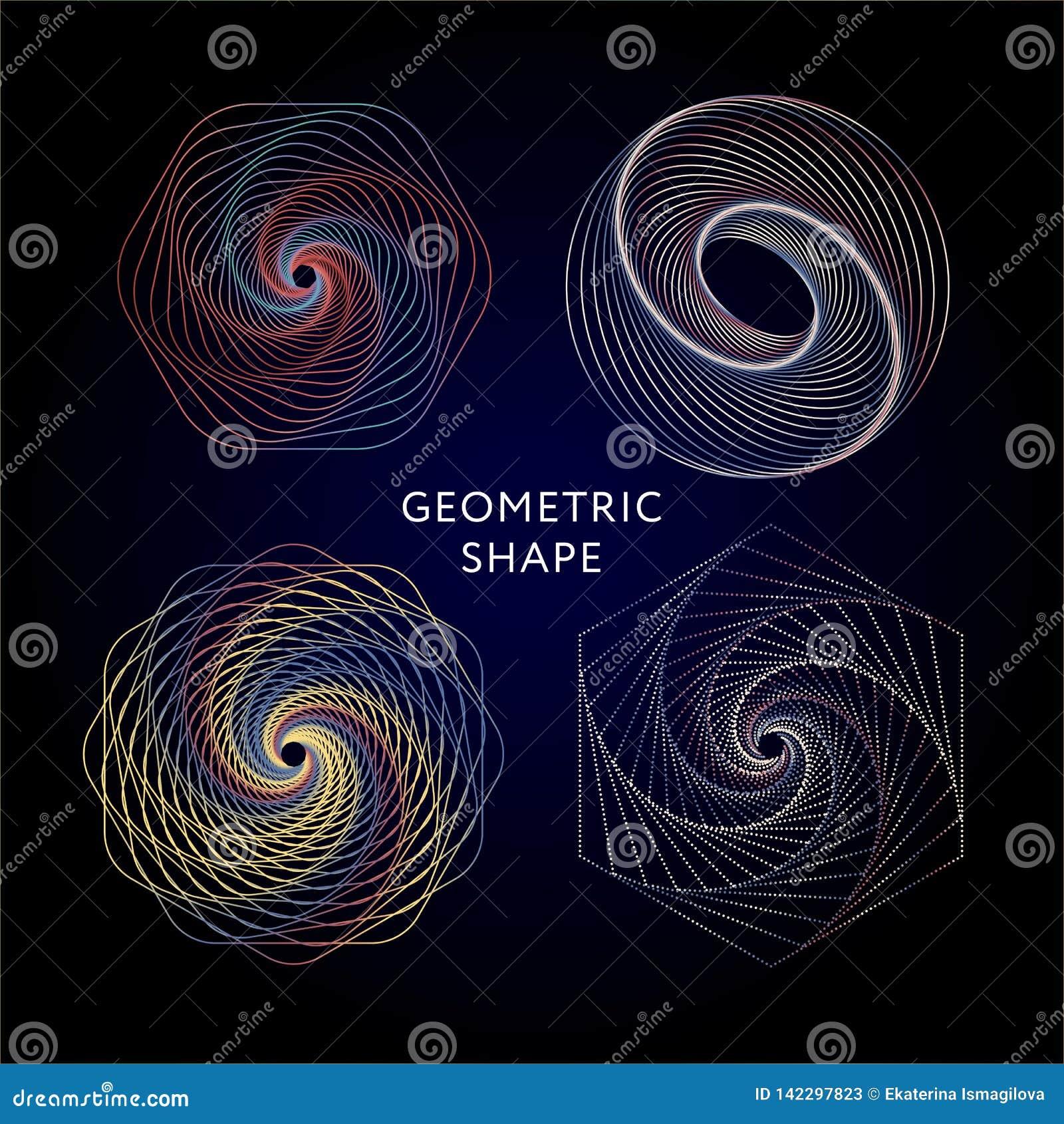 Colección de los símbolos de la geometría inconformista, extracto, alquimia, espiritual, sistema de elementos místico