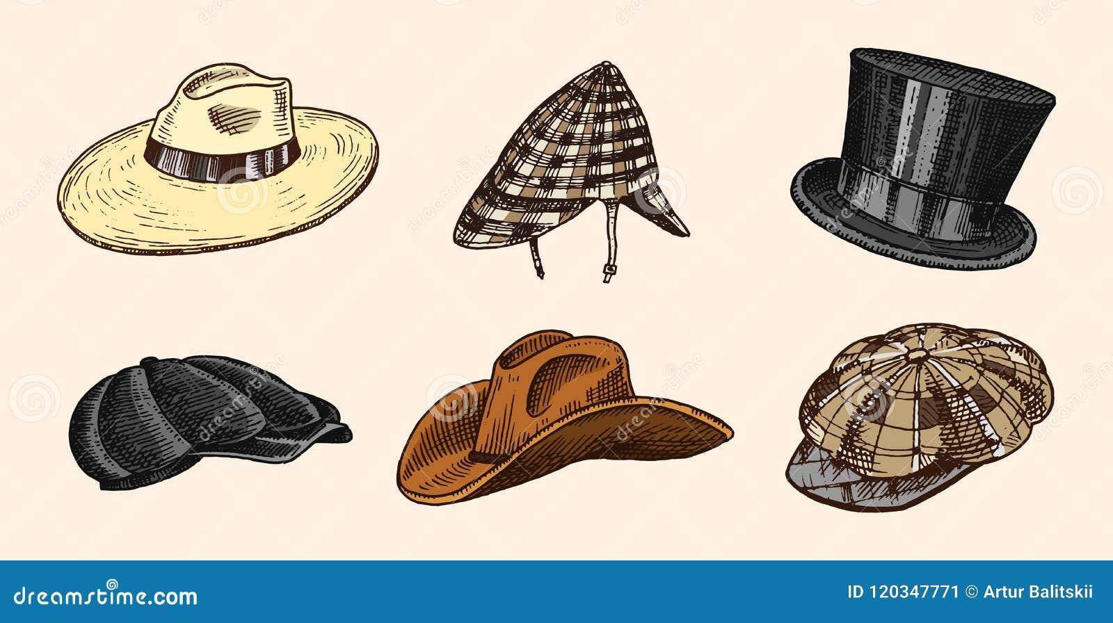 Colección De Los Sombreros Del Vintage Del Verano Para Los Hombres ... 184421277cc