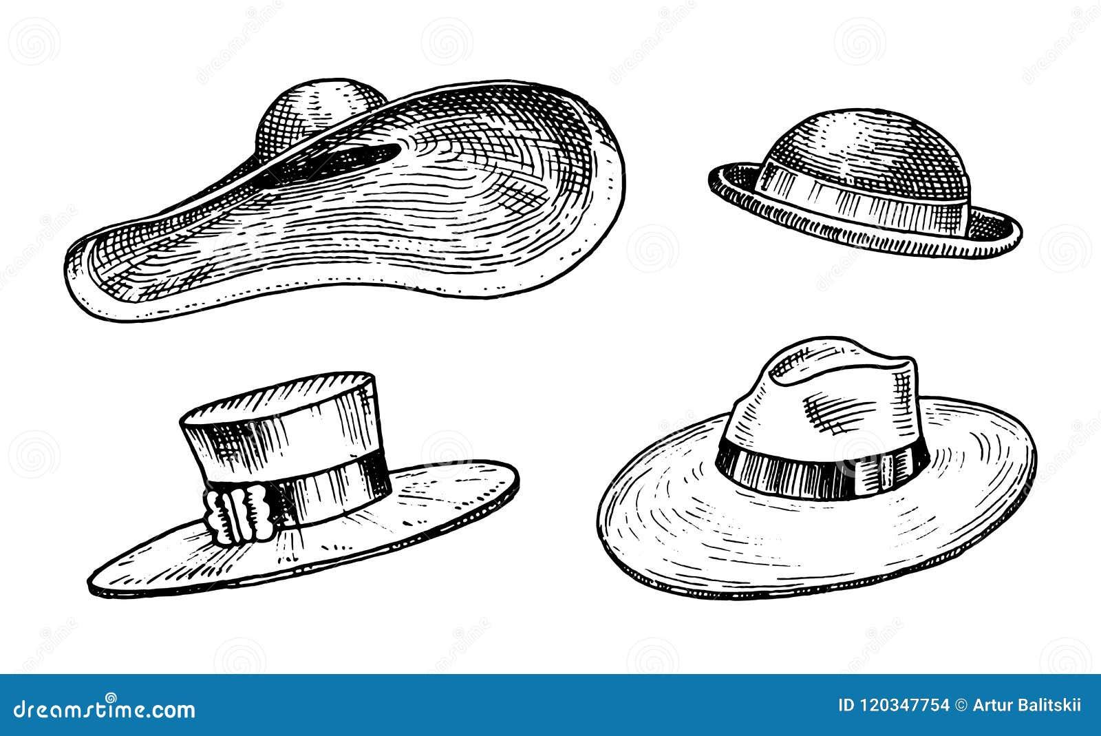 Colección de los sombreros del vintage del verano para la mujer elegante 2ee9a0bdc83