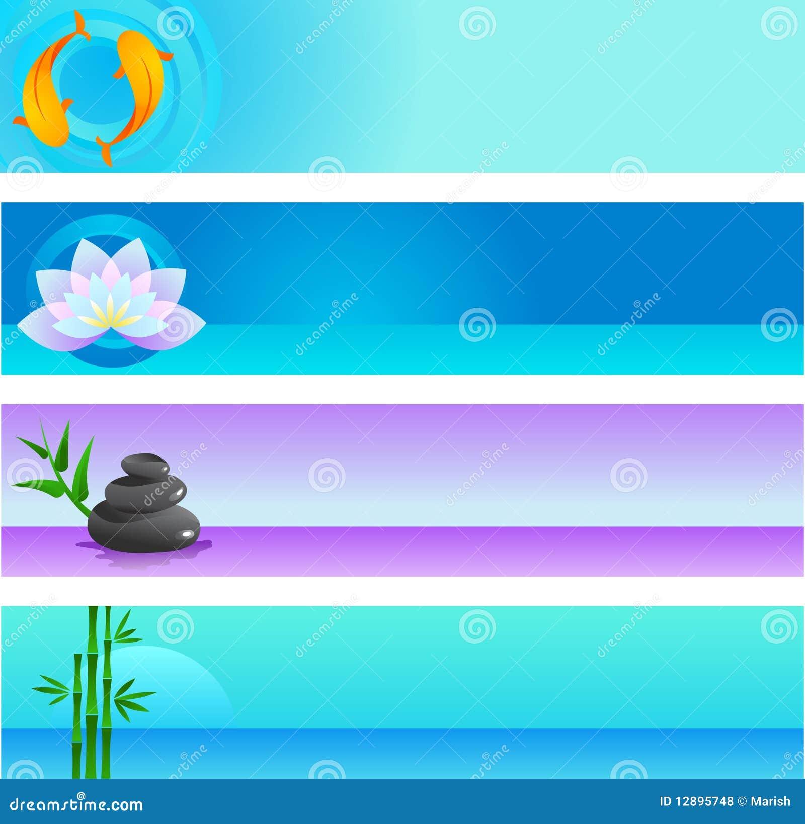 Colección de modelos del vector del zen con insignia
