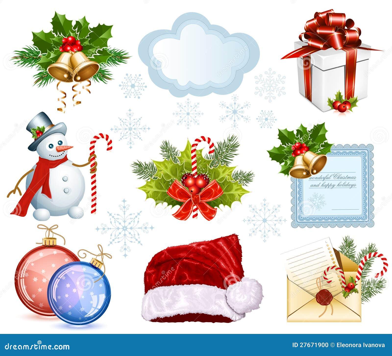 Colecci n de objetos de la navidad foto de archivo imagen 27671900 - Objetos de navidad ...