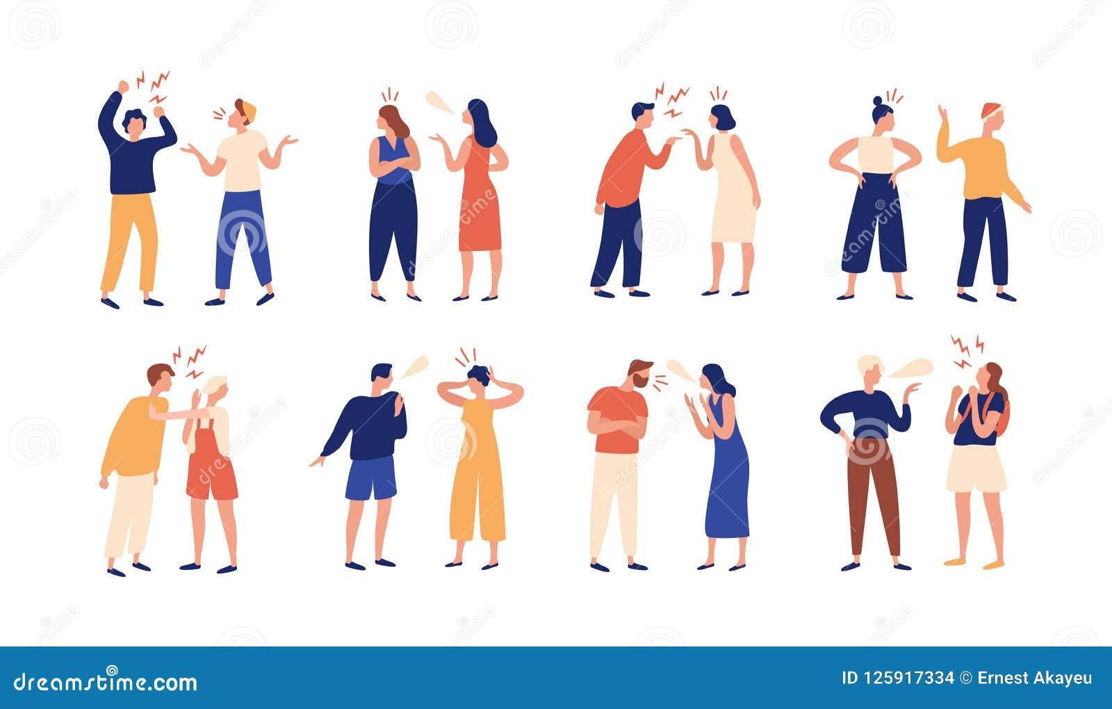 Desacuerdo Ilustraciones Stock, Vectores, Y Clipart