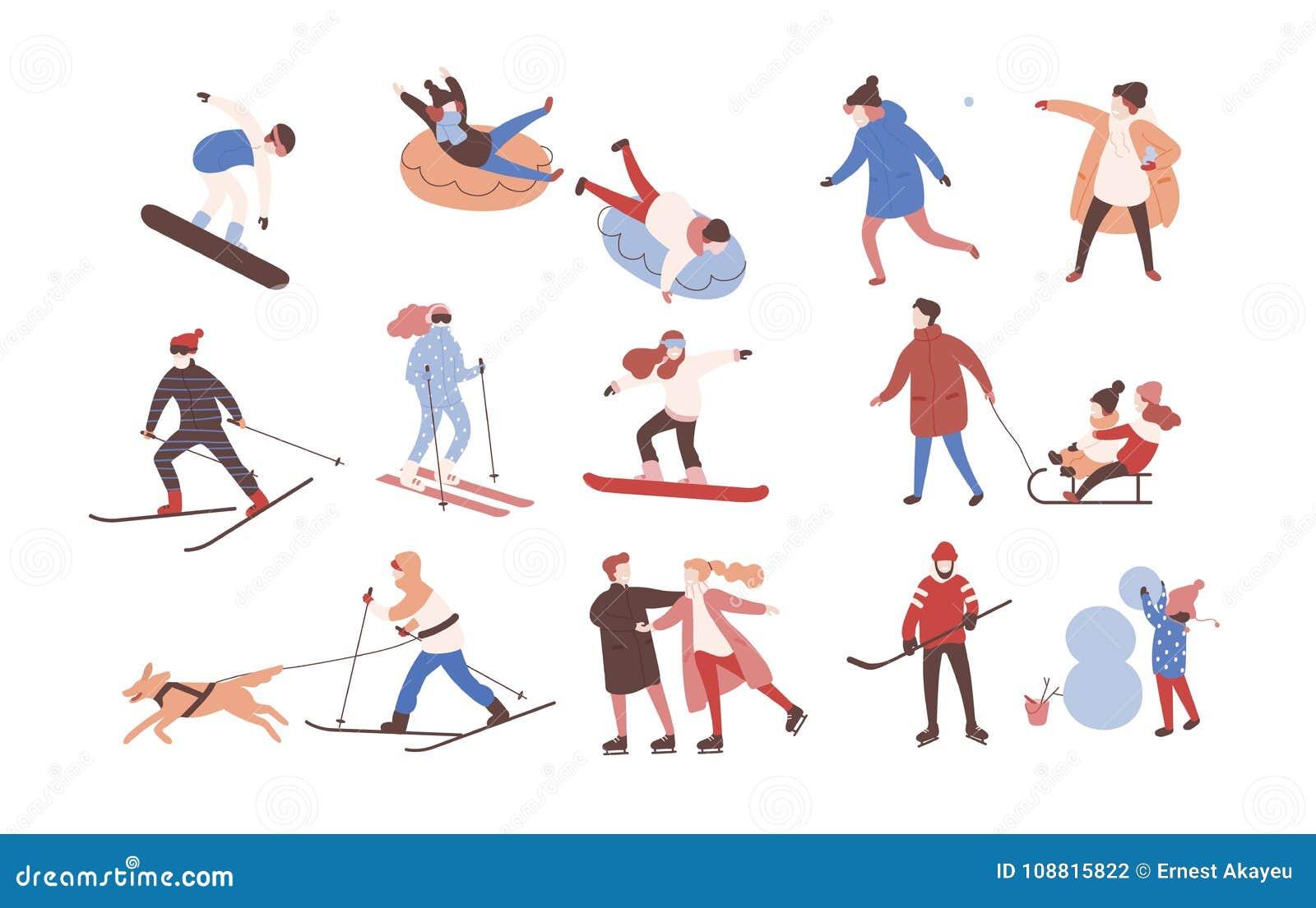 Colección De Personajes De Dibujos Animados Masculinos Y Femeninos