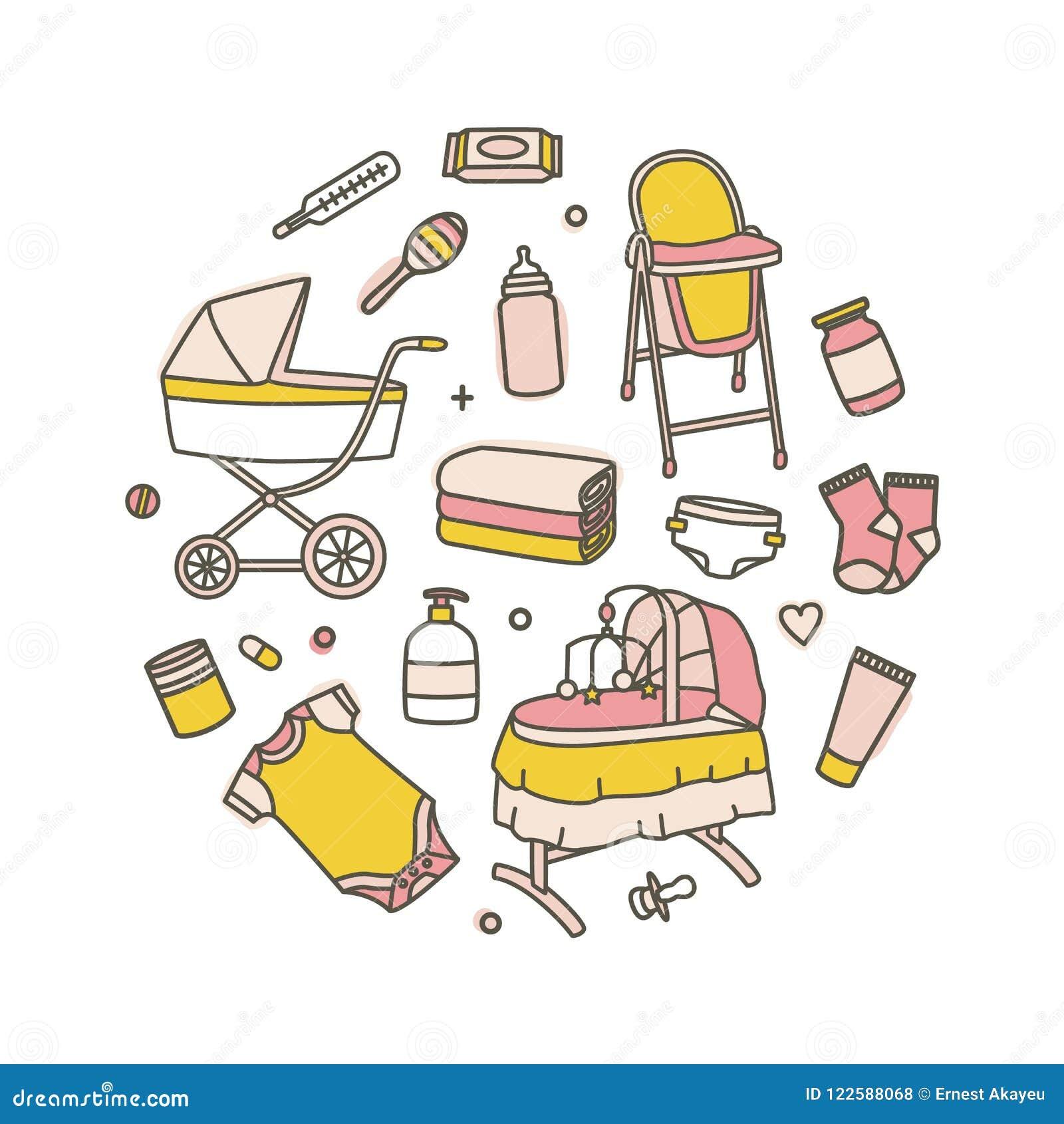 Paquetes Para Bebes Recien Nacidos.Coleccion De Productos Recien Nacidos Del Cuidado Del Bebe
