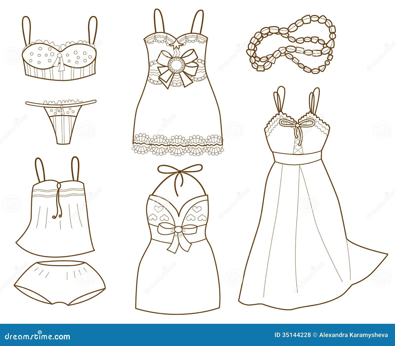 Colección de ropa interior para mujer de moda