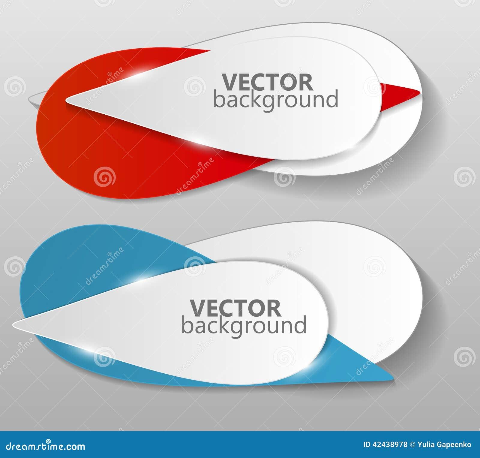 Colección de vector de la plantilla de las banderas de la papiroflexia