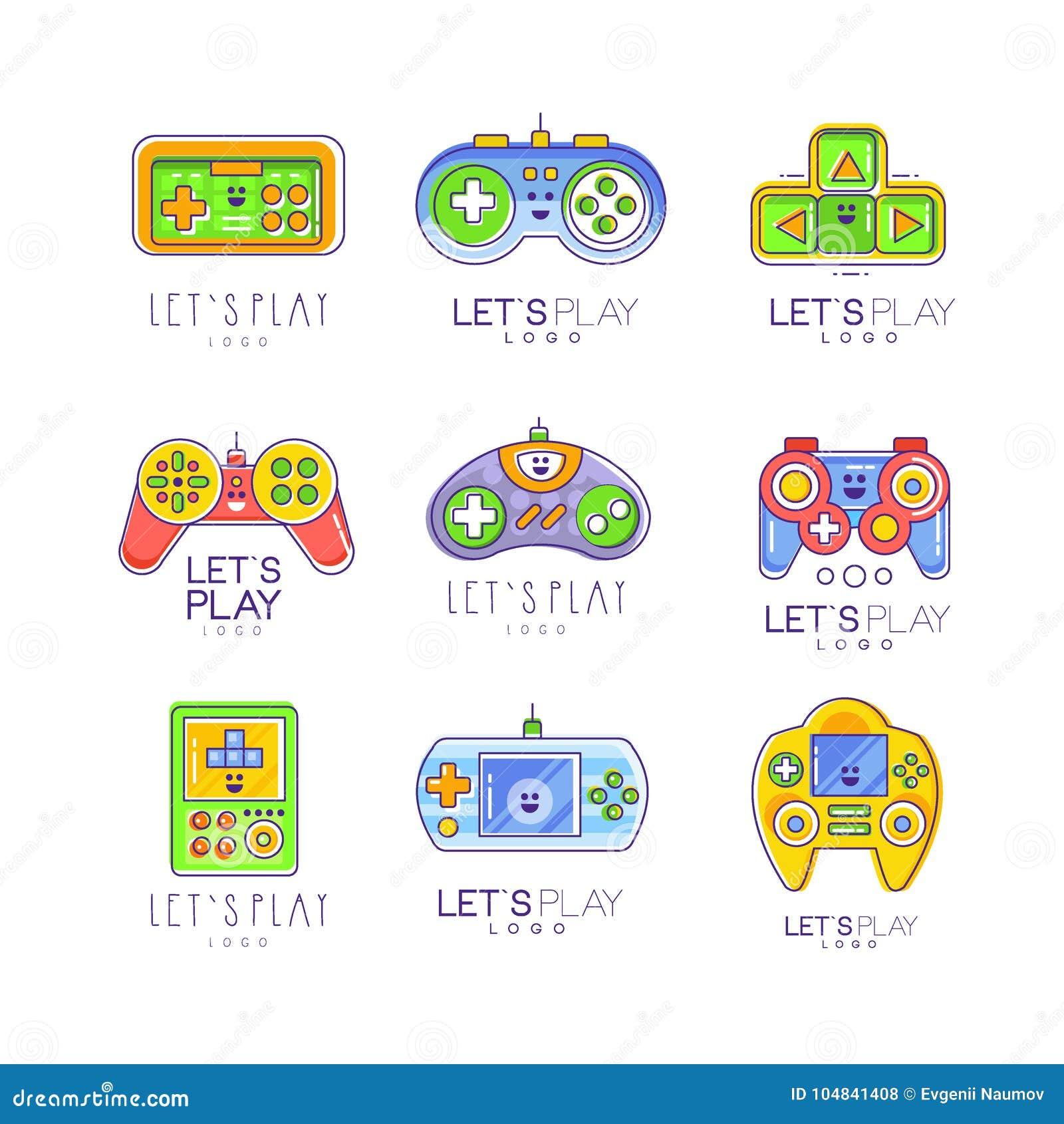 Coleccion Del Artilugio Del Juego En La Linea Estilo Tetris