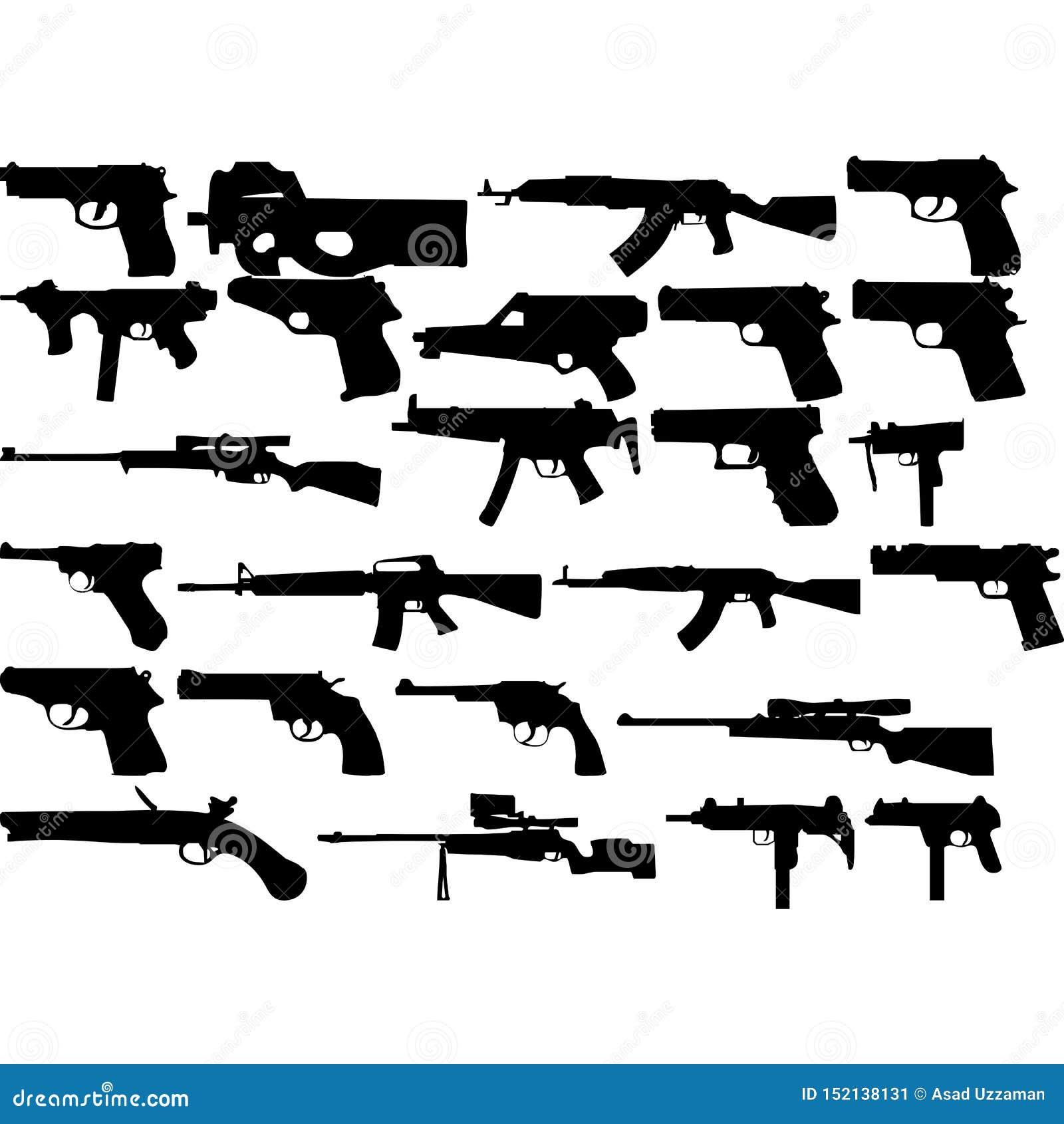Colección del diseño de las armas para el diseño