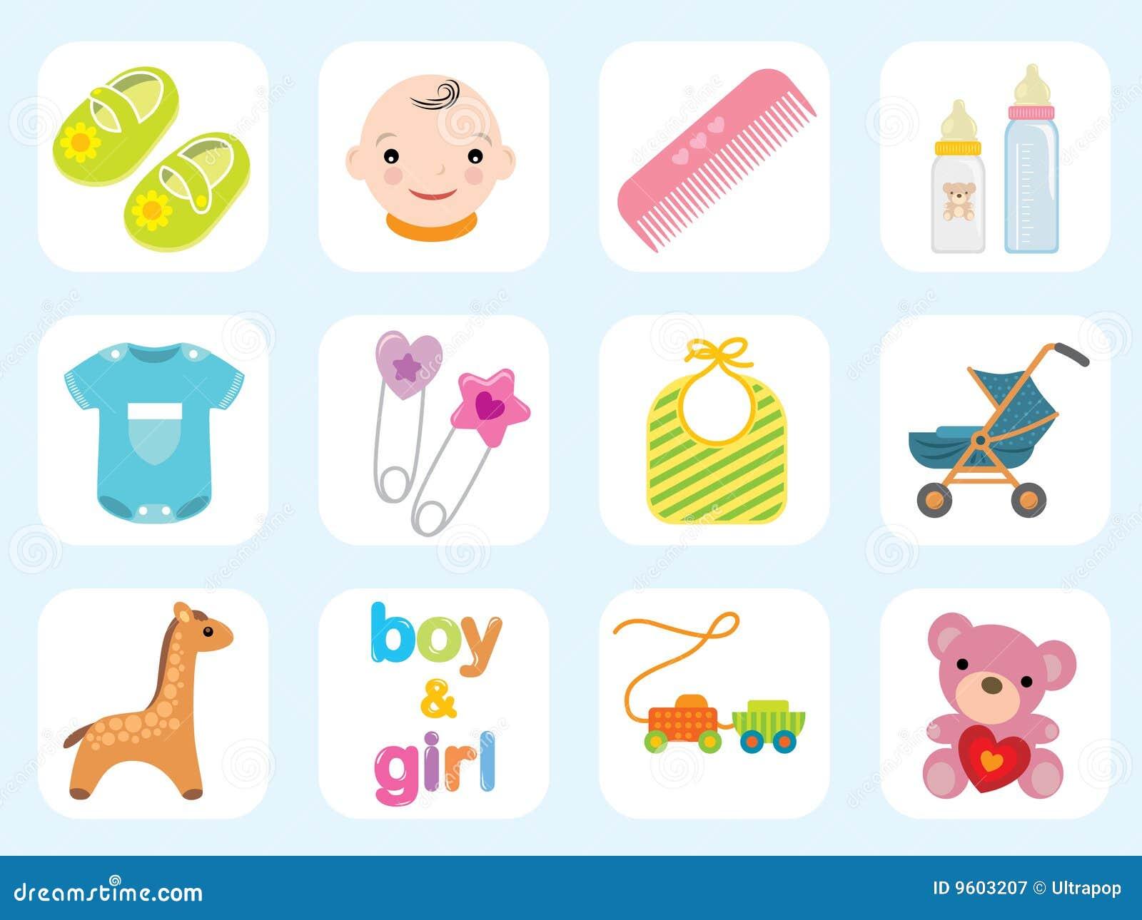 Colección del icono del bebé